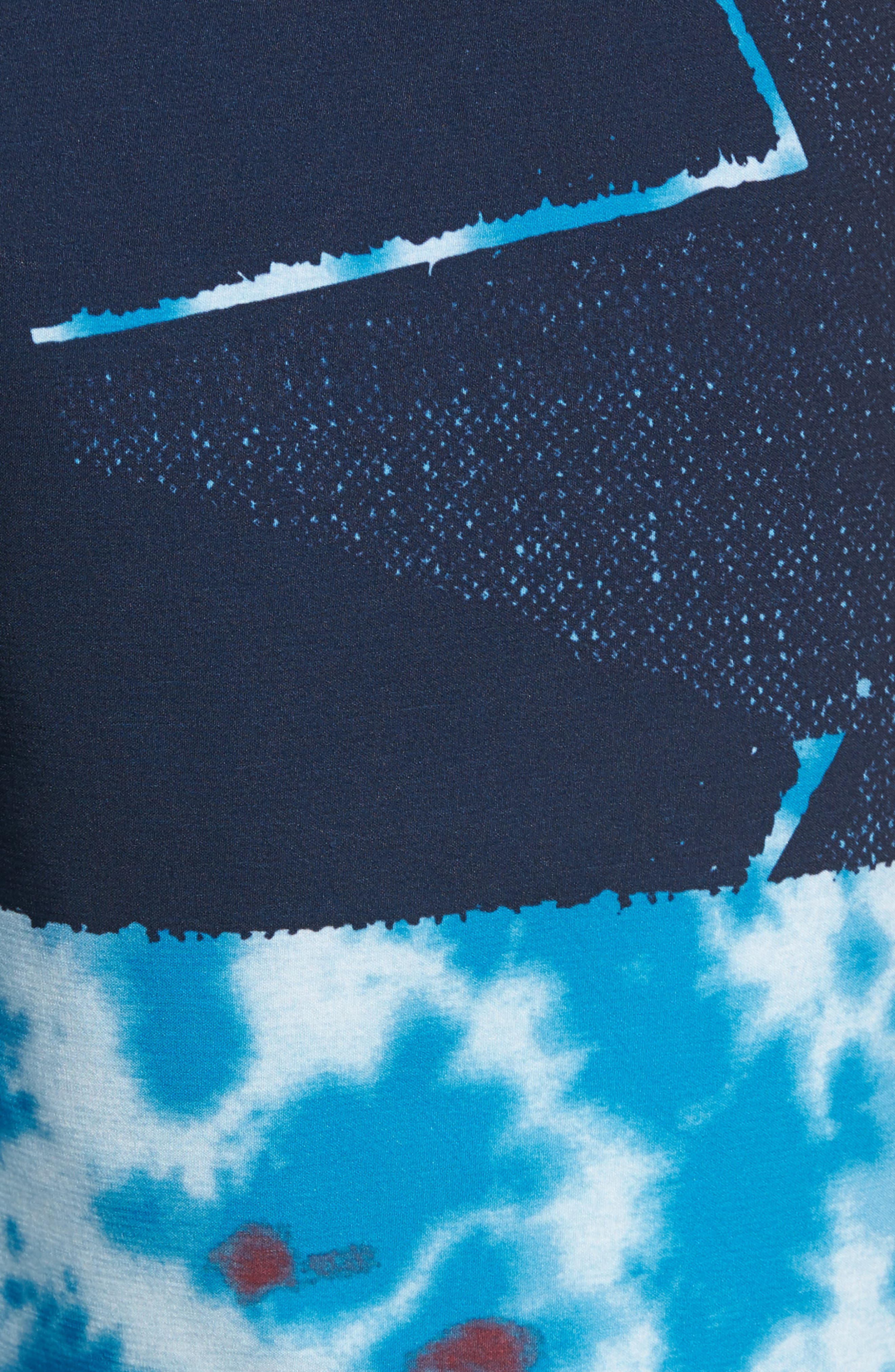 Lido Block Mod Board Shorts,                             Alternate thumbnail 5, color,                             Blue True