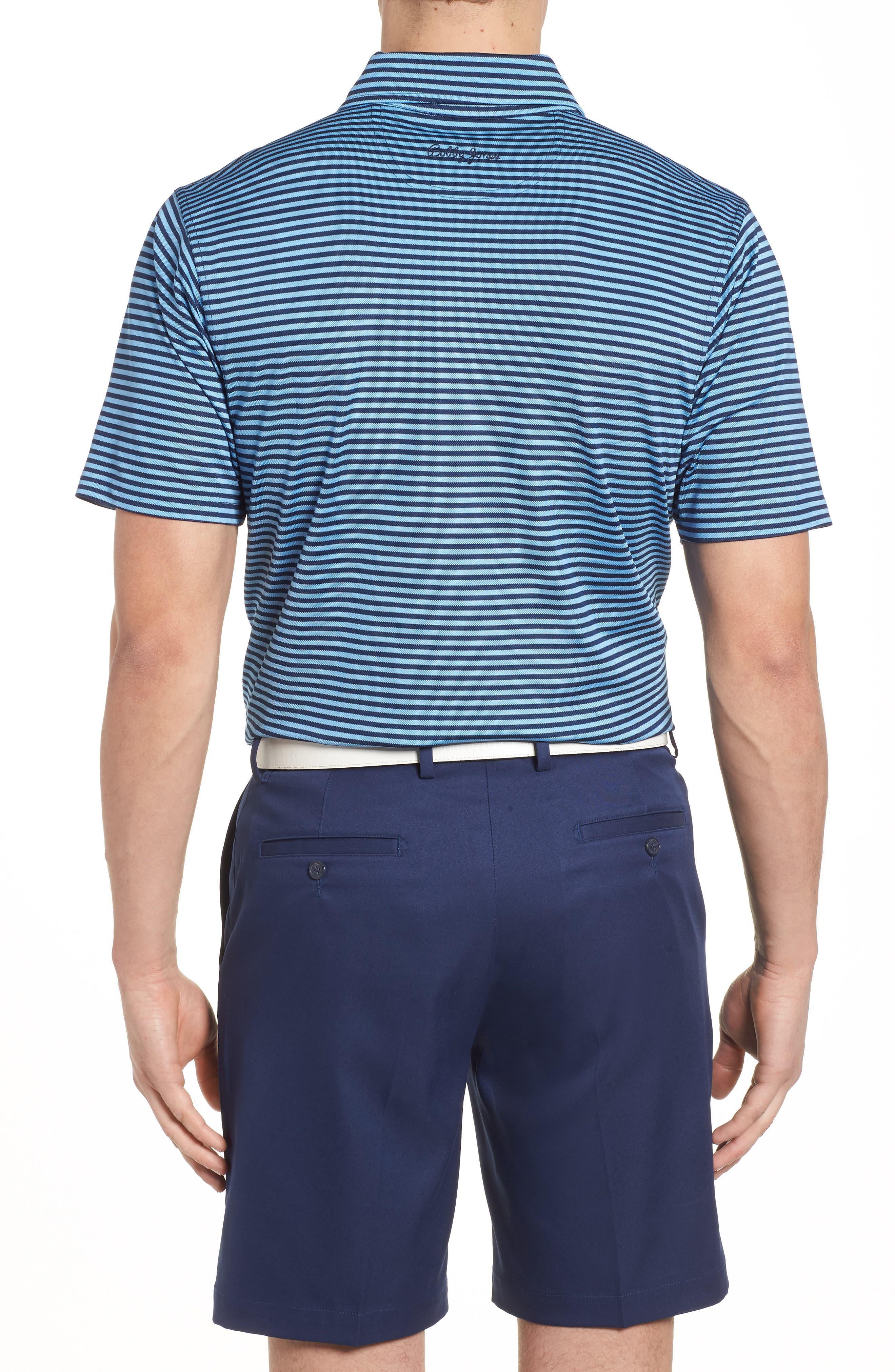 XH2O Feed Stripe Stretch Golf Polo,                             Alternate thumbnail 2, color,                             Sky Blue