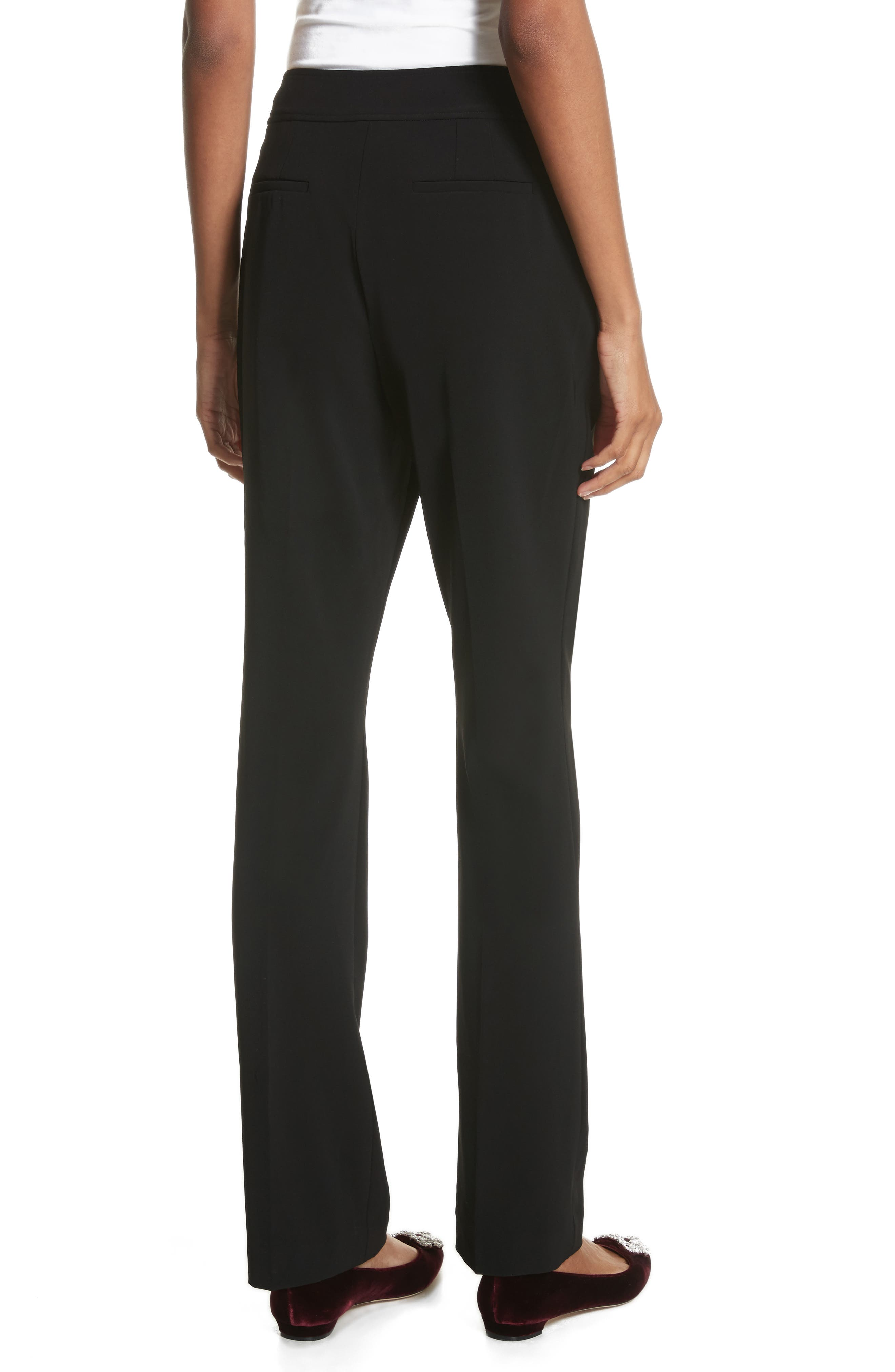 Yulit High Waist Trousers,                             Alternate thumbnail 2, color,                             Black