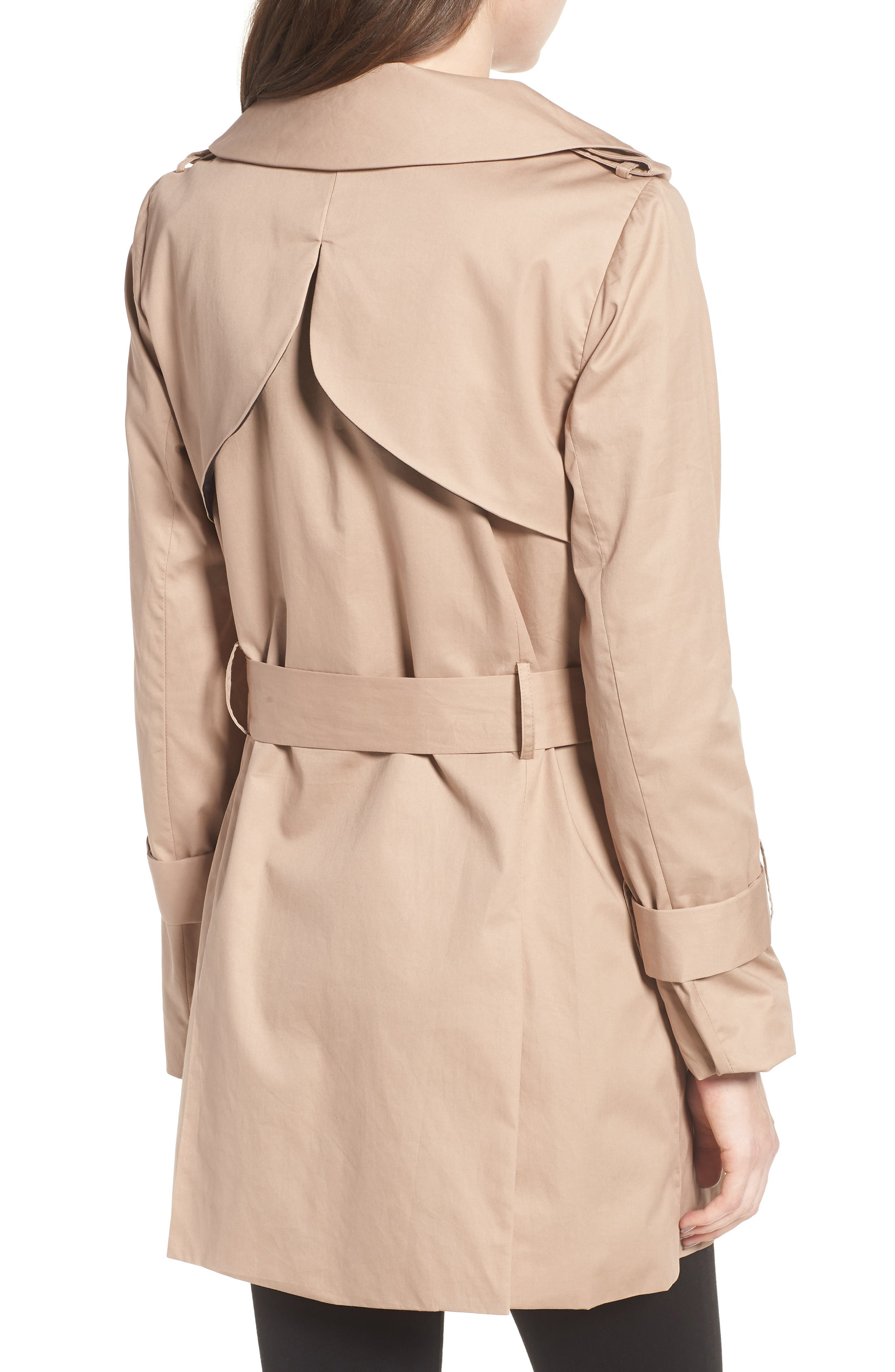 Moss Trench Coat,                             Alternate thumbnail 2, color,                             Sand