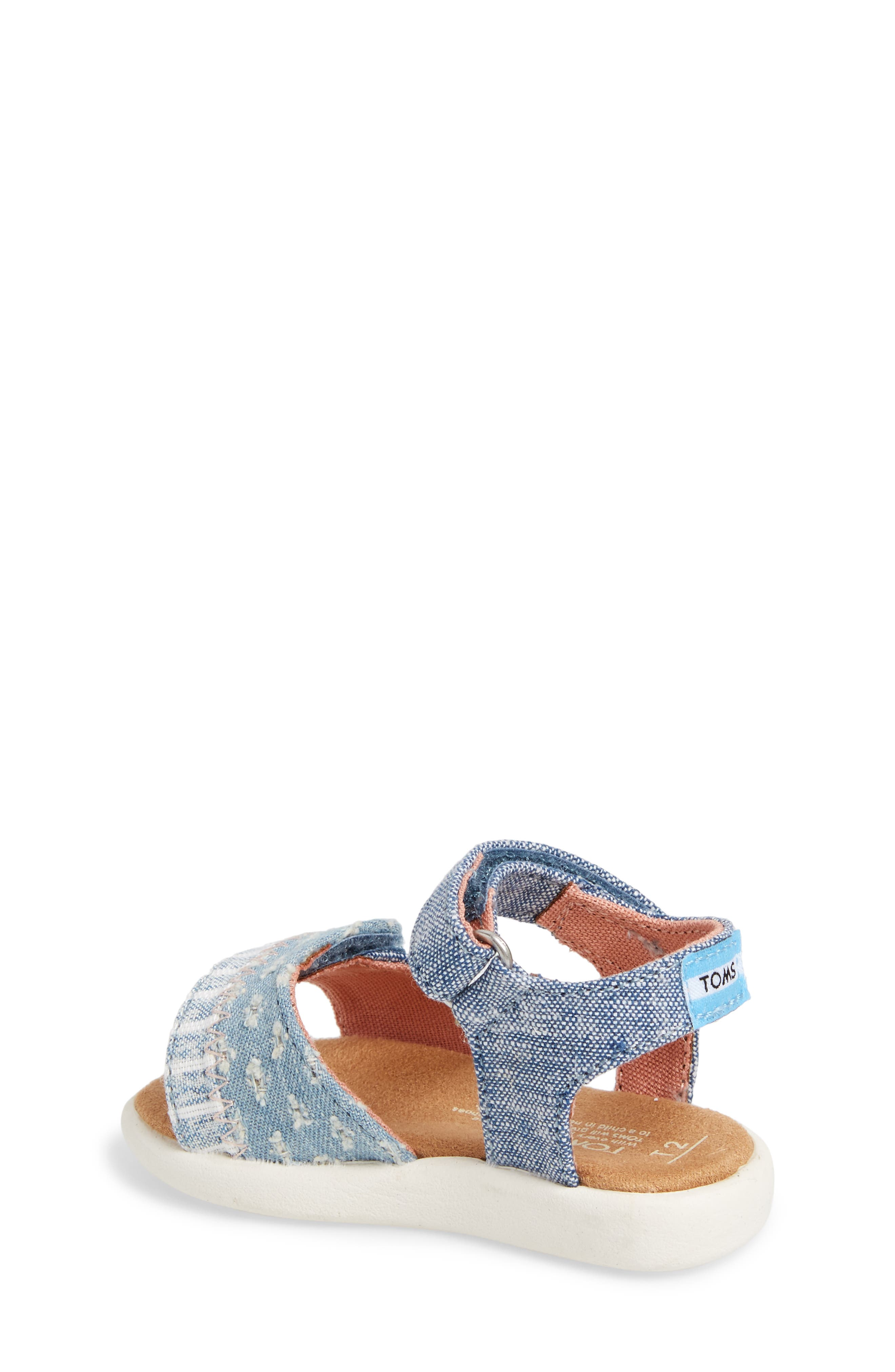 Strappy Sandal,                             Alternate thumbnail 2, color,                             Blue Slub Chambray