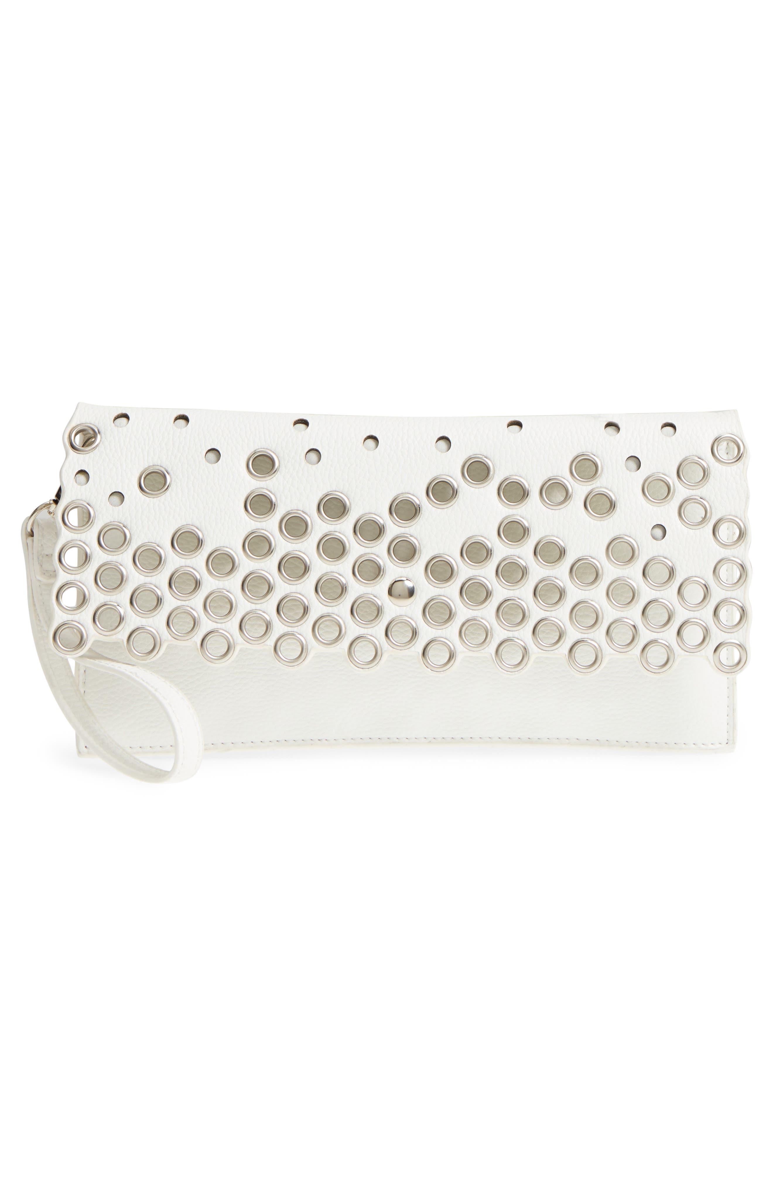 Grommet Convertible Crossbody Bag,                             Alternate thumbnail 6, color,                             White