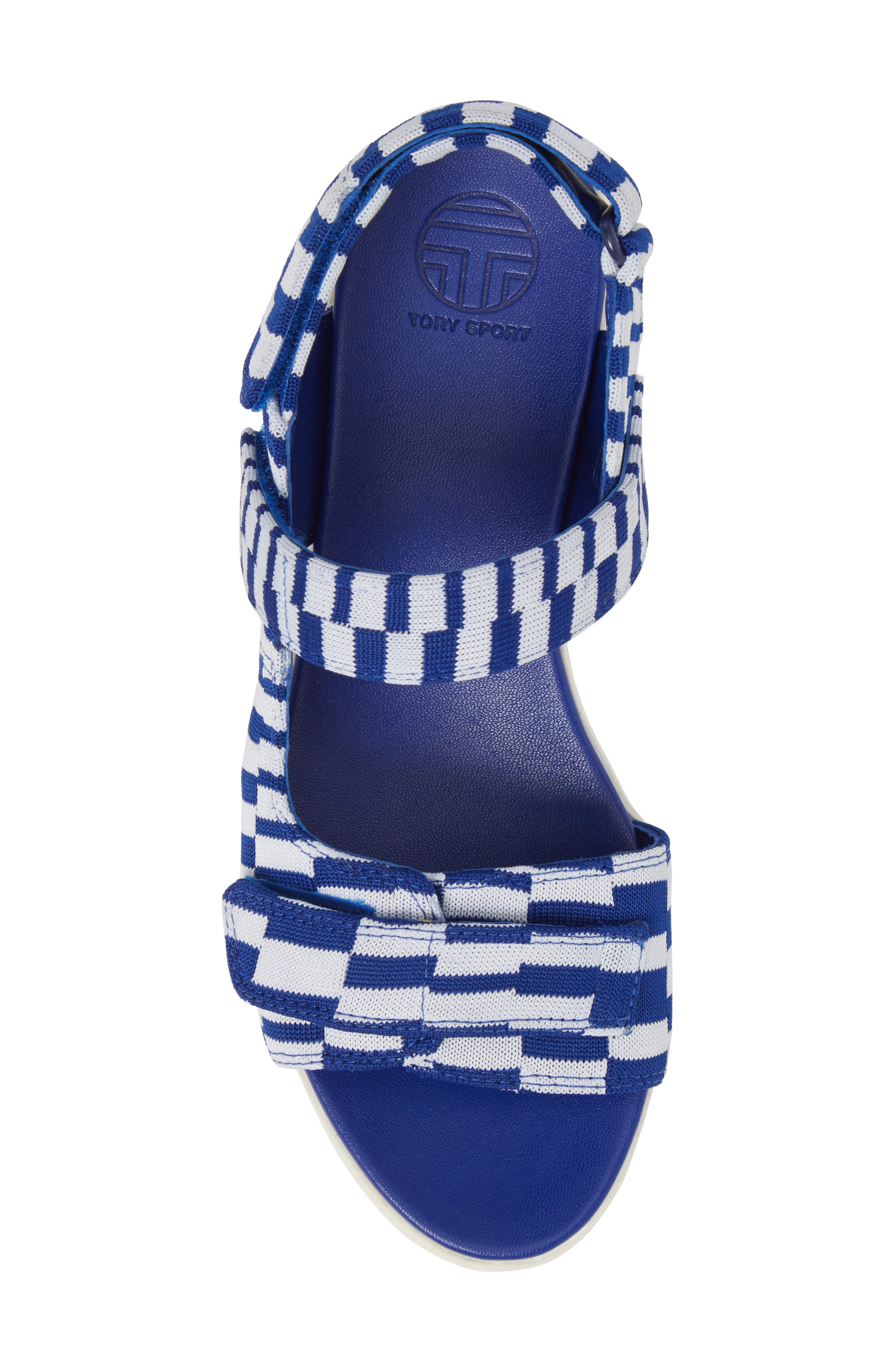 Flatform Sandal,                             Alternate thumbnail 5, color,                             Check Slalom Blue
