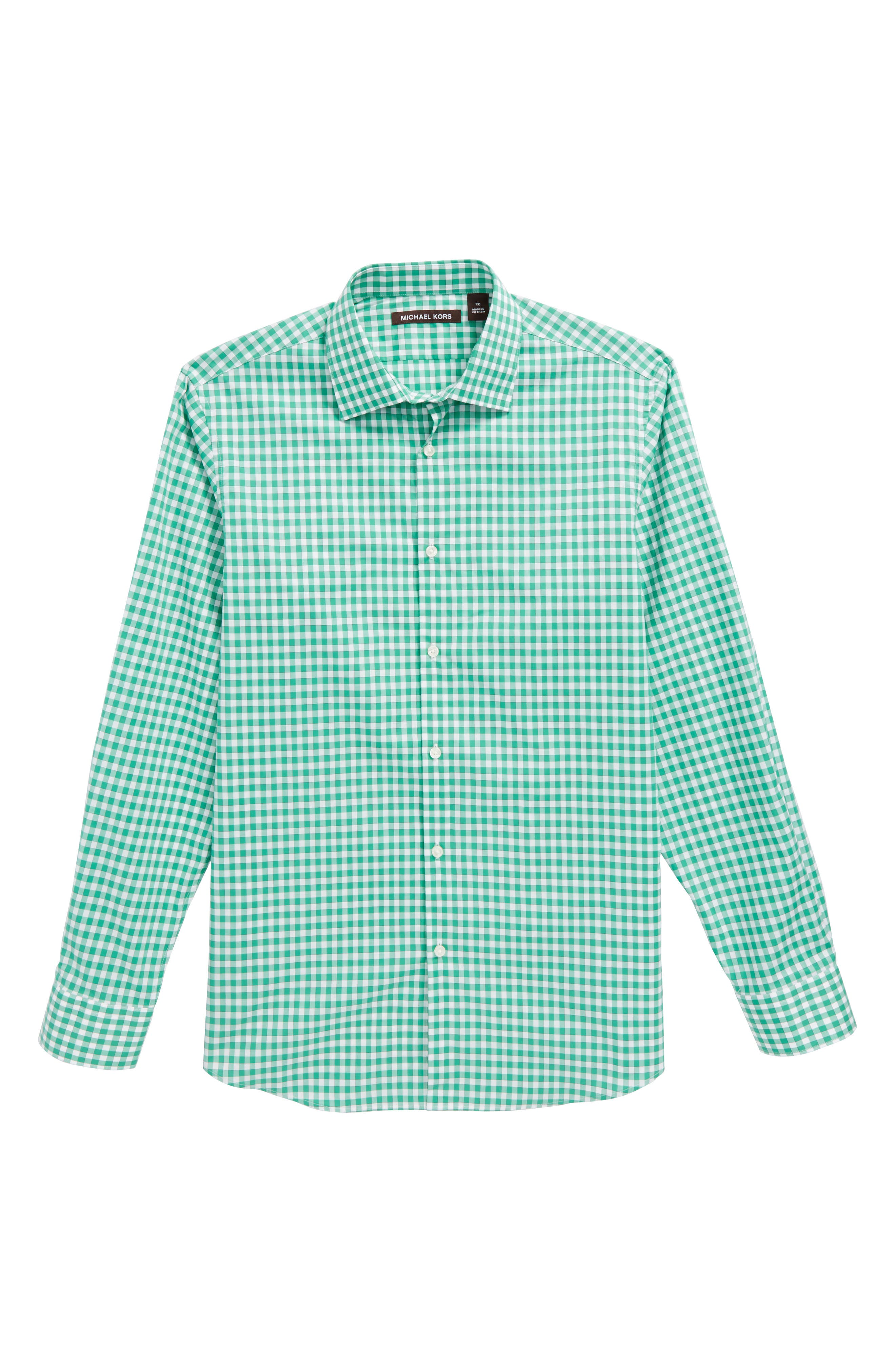 Michael Kors Check Dress Shirt (Big Boys)