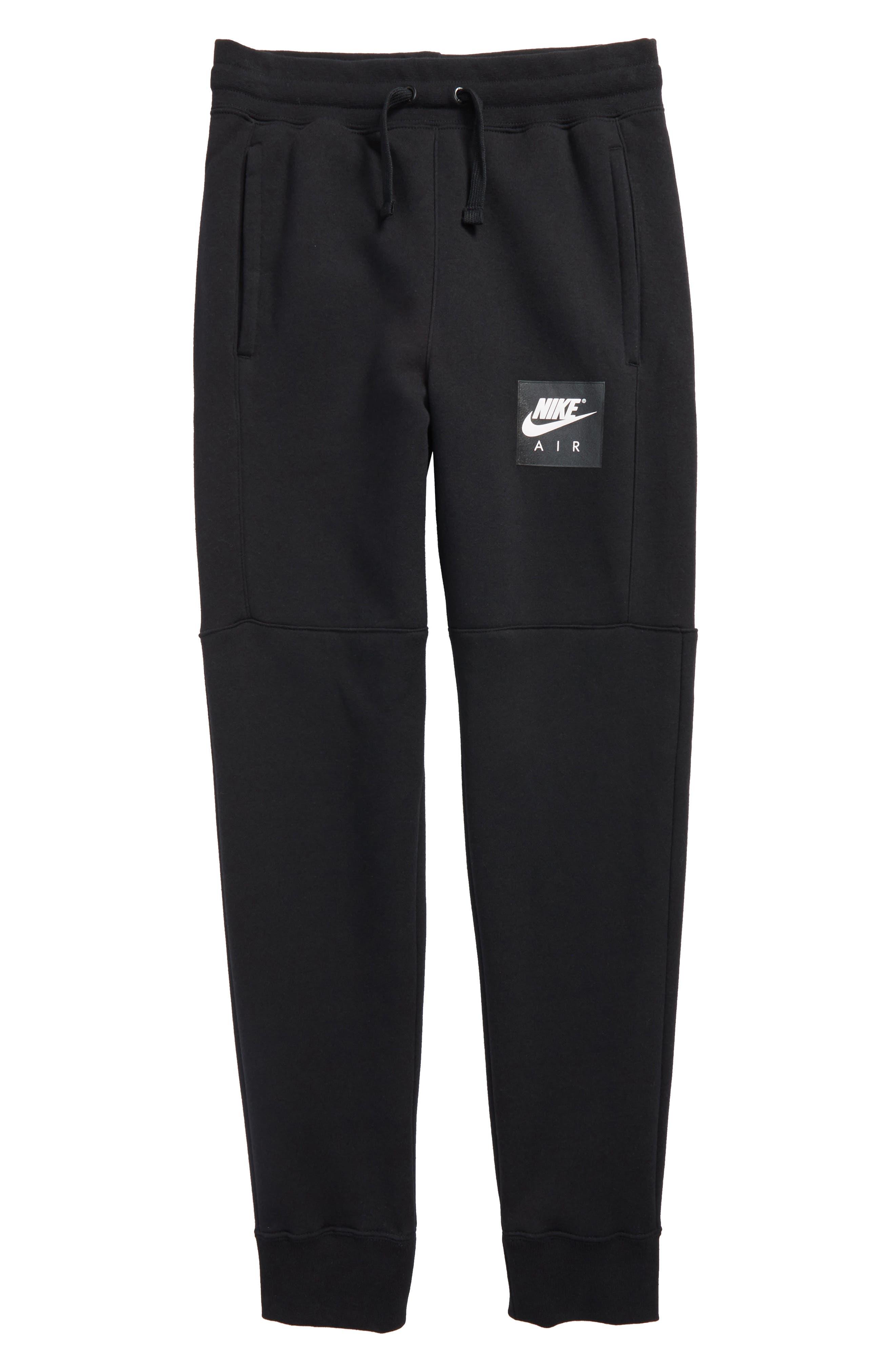 Air Sweatpants,                         Main,                         color, Black/ White