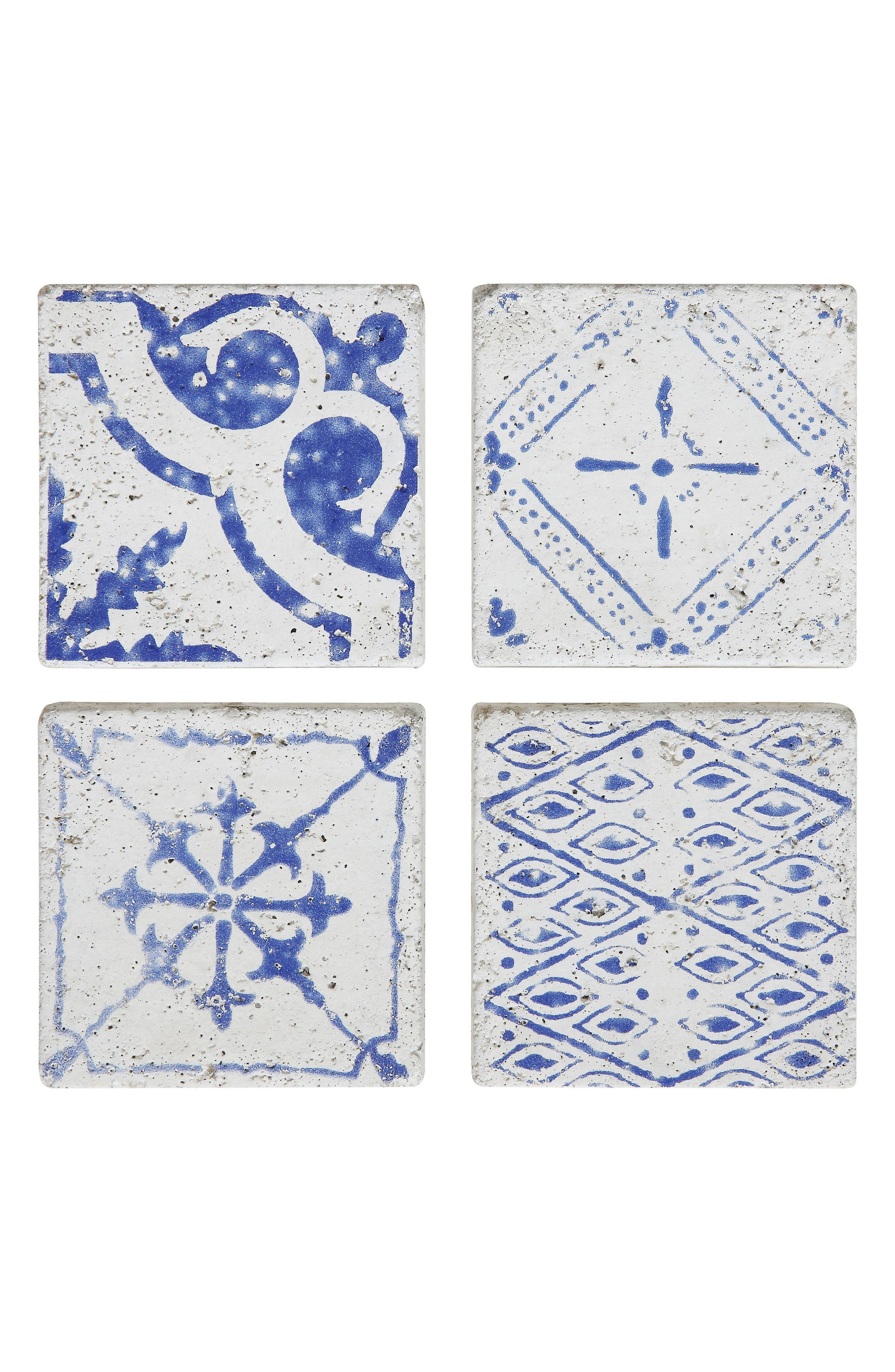 Main Image - Creative Co-Op Set of 4 Cement Tile Coasters