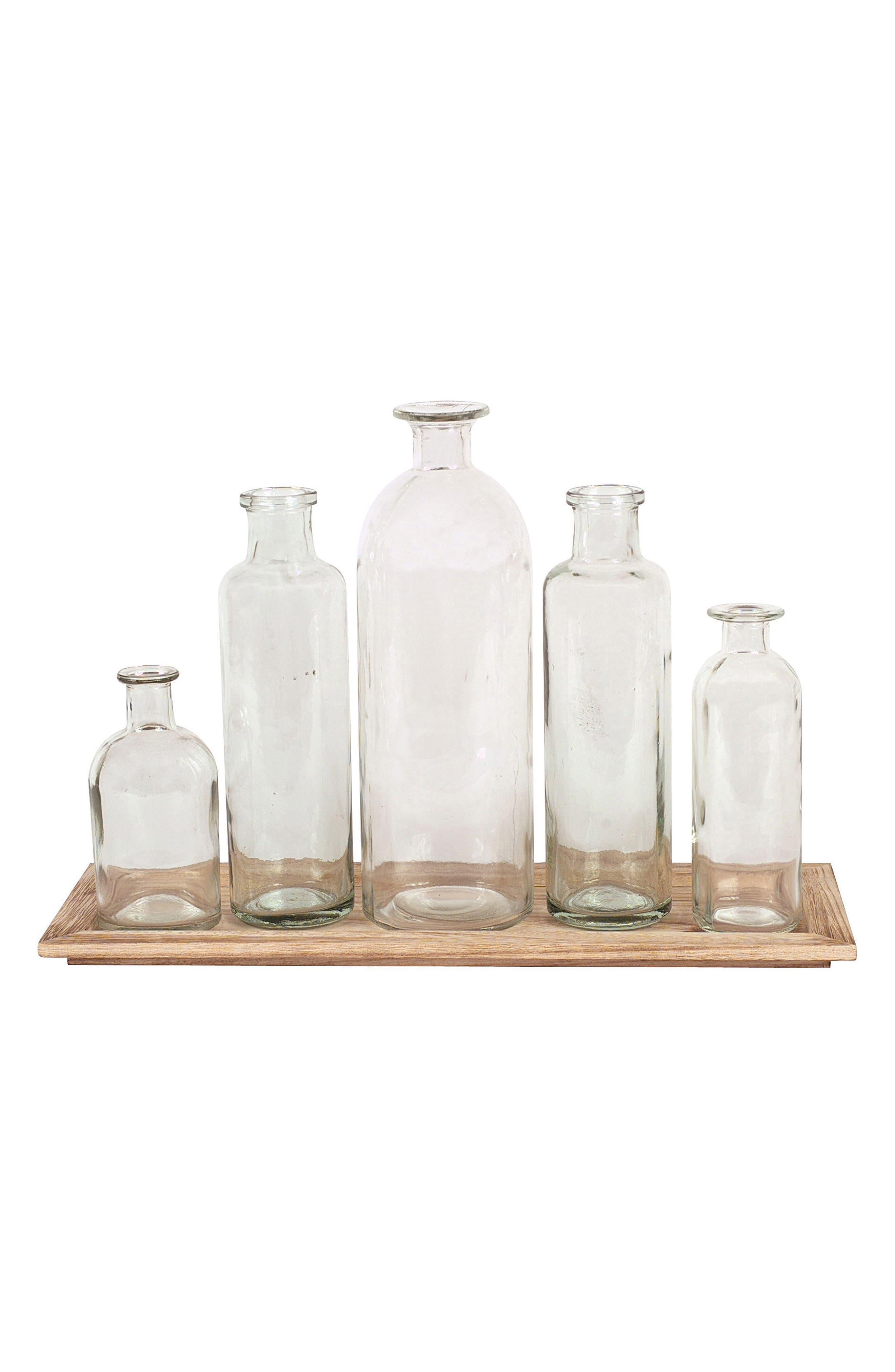 6-Piece Vase & Tray Set,                         Main,                         color, Brown