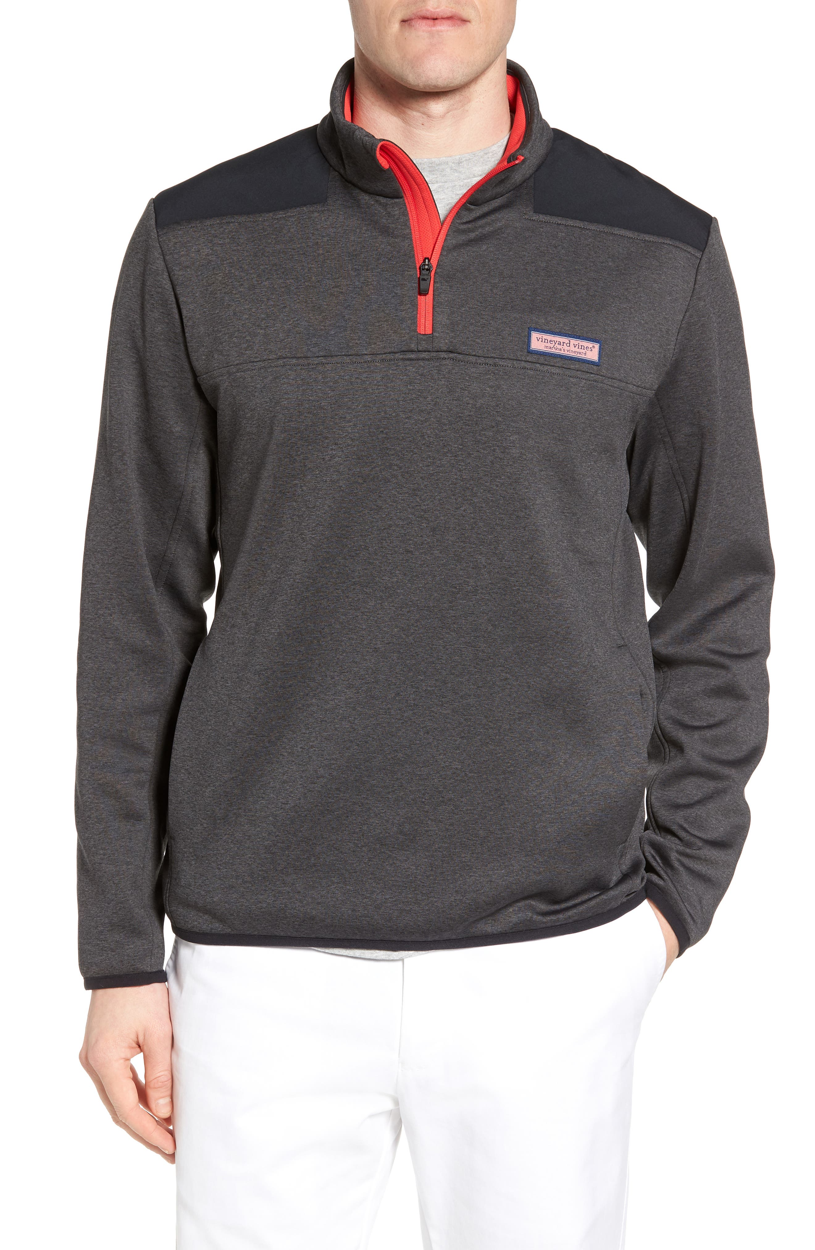 Shep Performance Fleece Quarter Zip Pullover,                         Main,                         color, Charcoal Heather