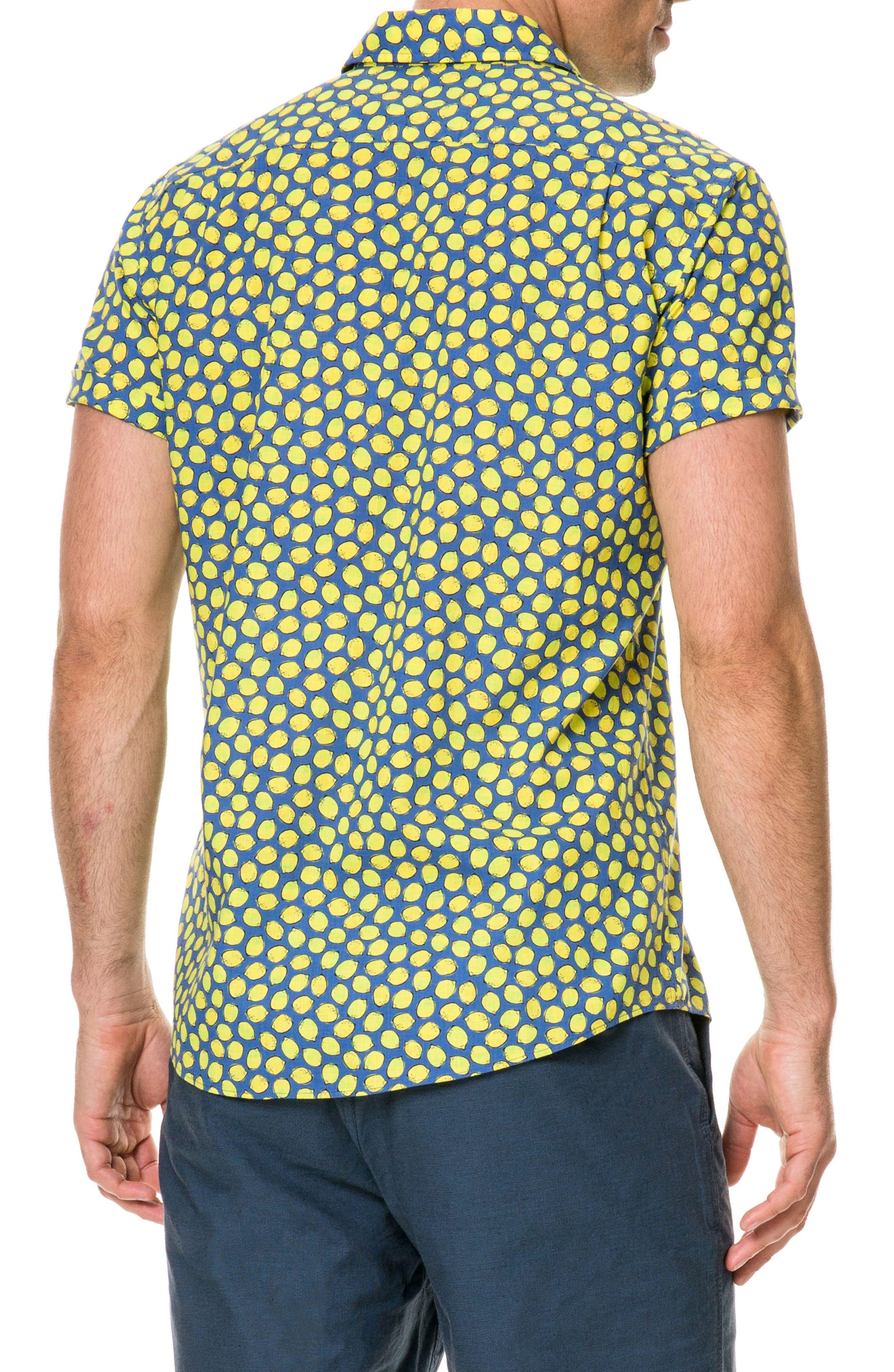 Davis Bay Regular Fit Sport Shirt,                             Alternate thumbnail 3, color,                             Azure