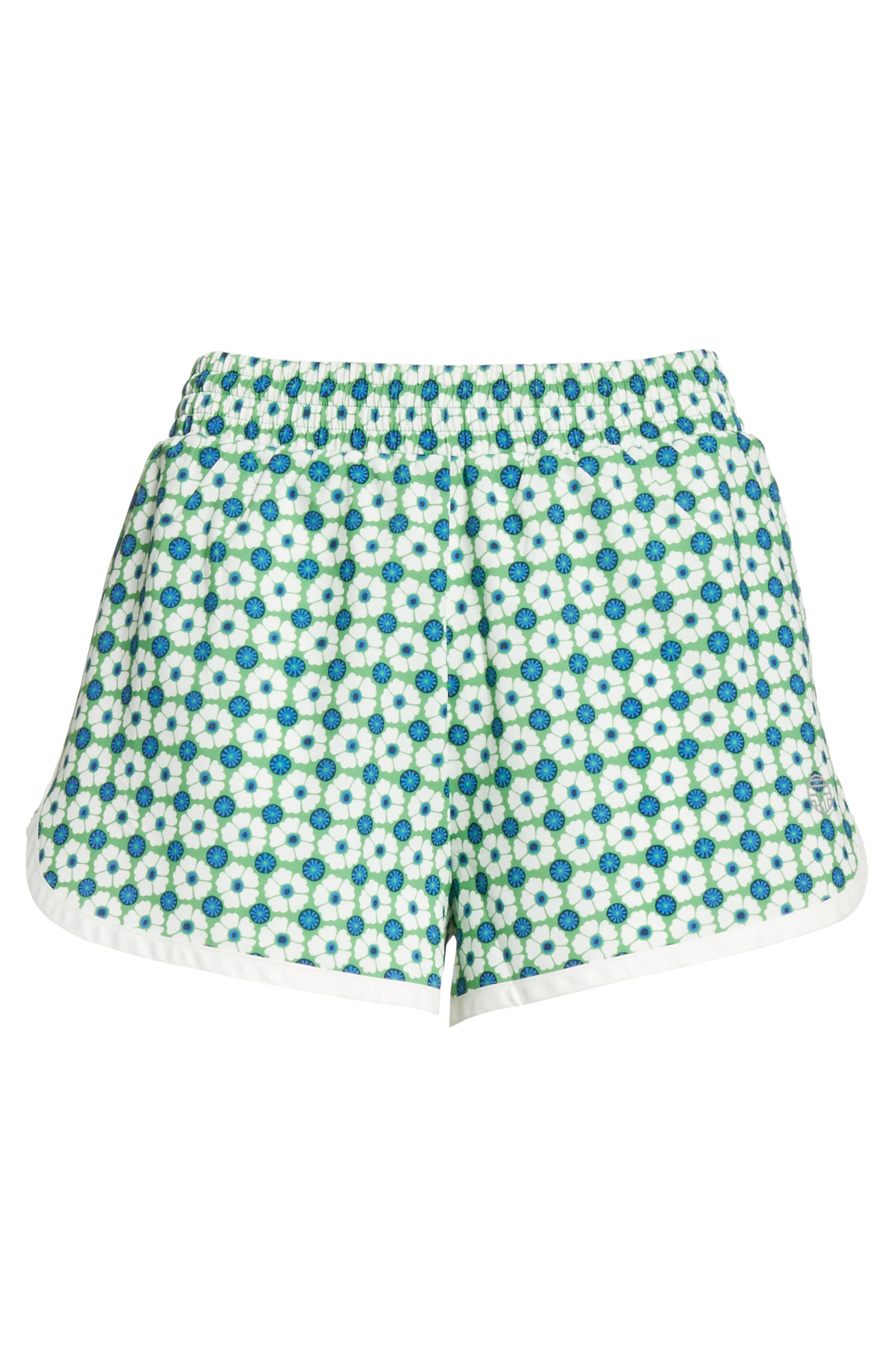 Print Running Shorts,                             Alternate thumbnail 6, color,                             Scarf Blue Floral