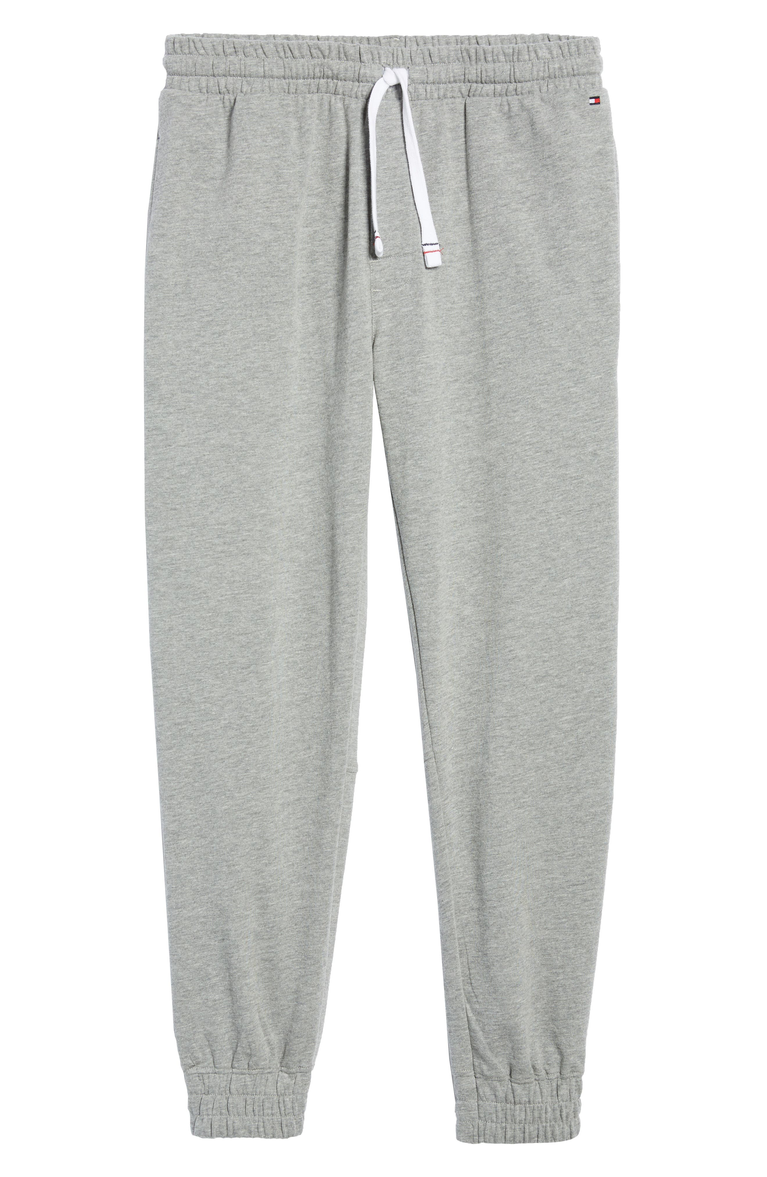 Jogger Lounge Pants,                             Alternate thumbnail 6, color,                             Grey Heather
