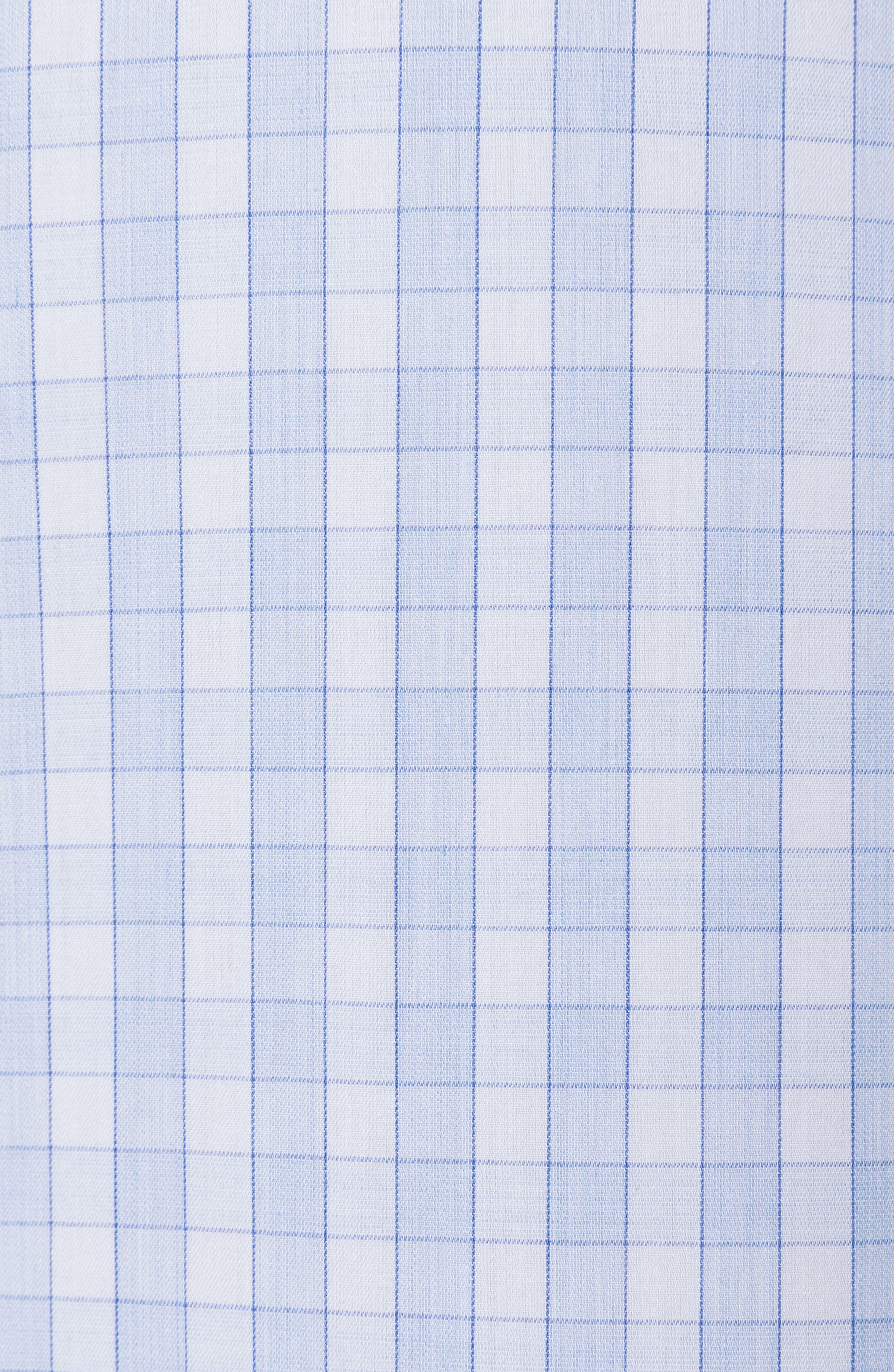Brackley Slim Fit Sport Shirt,                             Alternate thumbnail 4, color,                             Sky