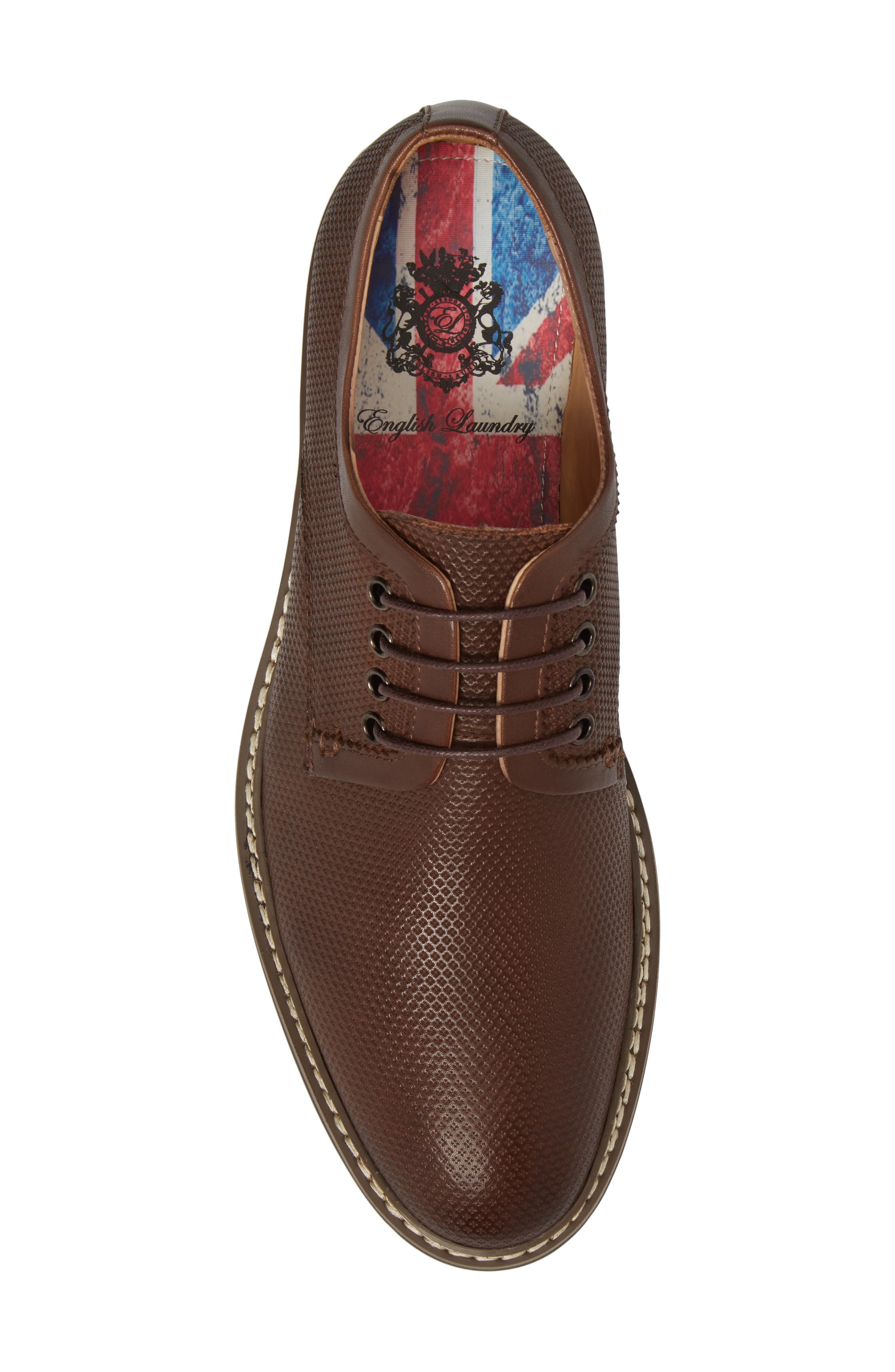 Canning Plain Toe Derby,                             Alternate thumbnail 5, color,                             Brown Leather