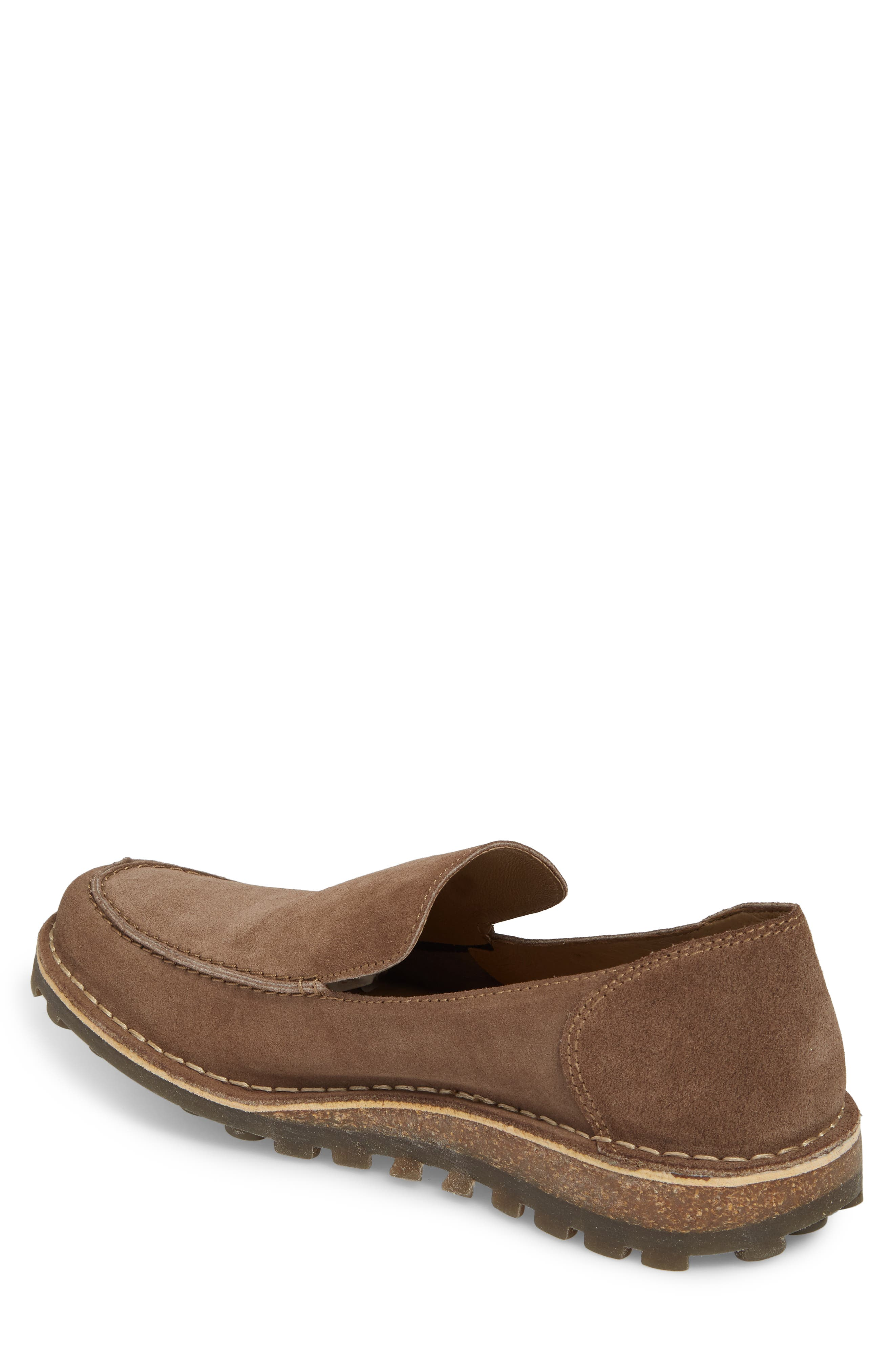 Meve Moc Toe Loafer,                             Alternate thumbnail 2, color,                             Taupe Suede