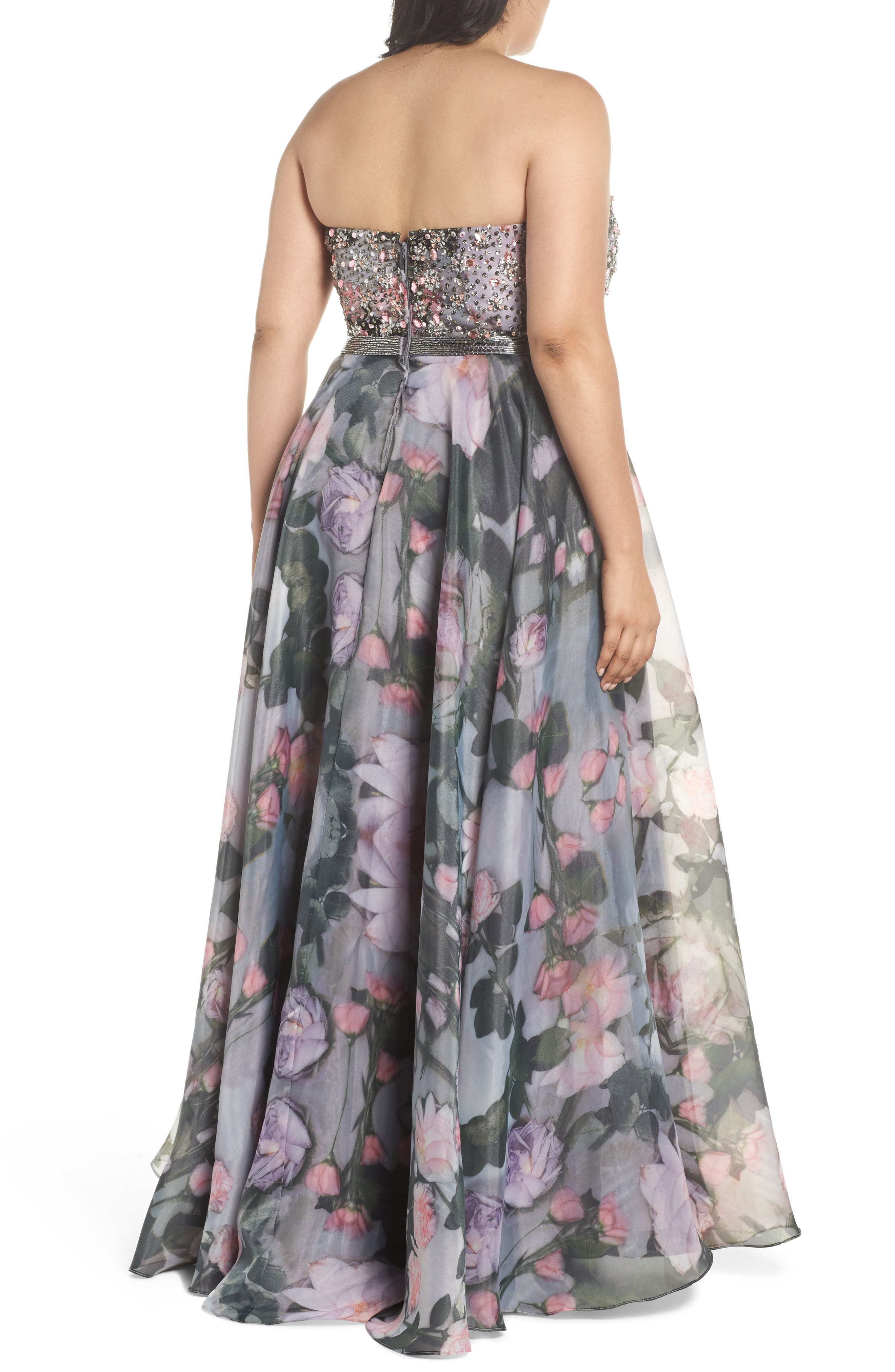 Alternate Image 2  - Mac Duggal Embellished Flora Strapless Sweetheart Gown (Plus Size)