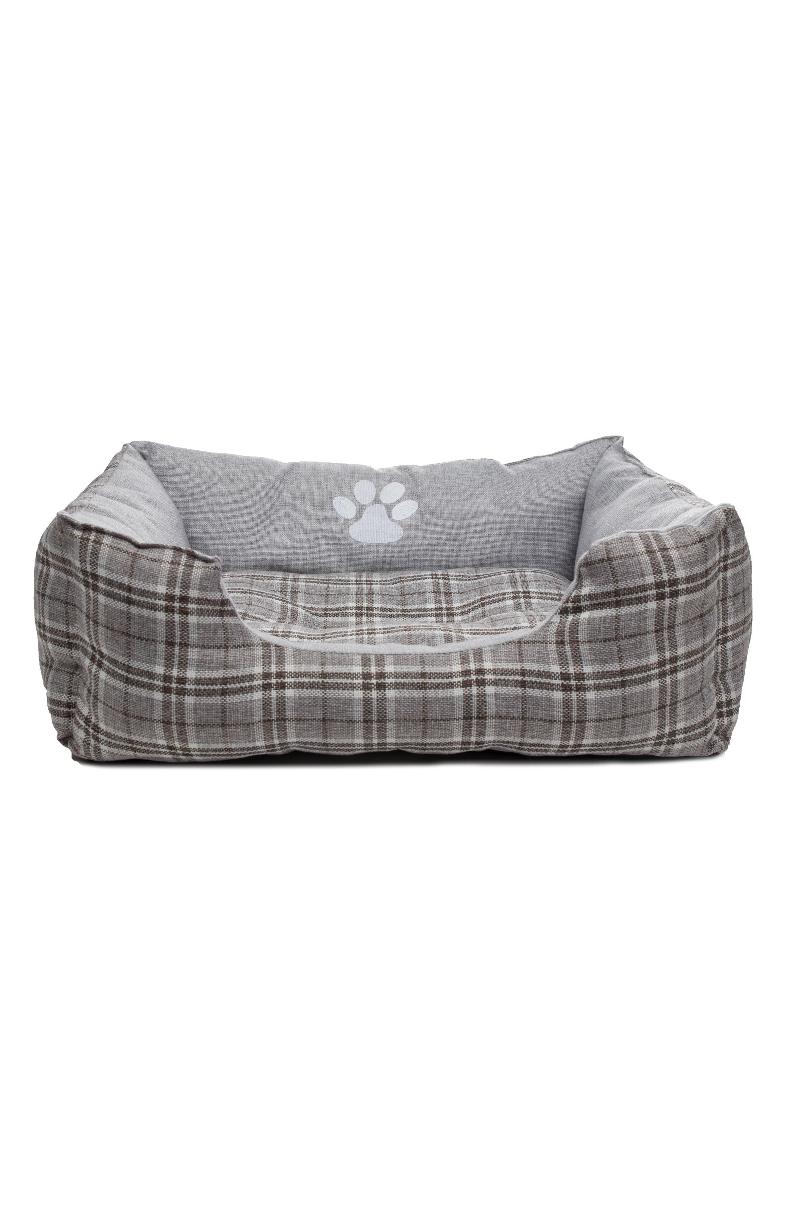 Harlee Large Square Pet Bed,                             Main thumbnail 1, color,                             Grey