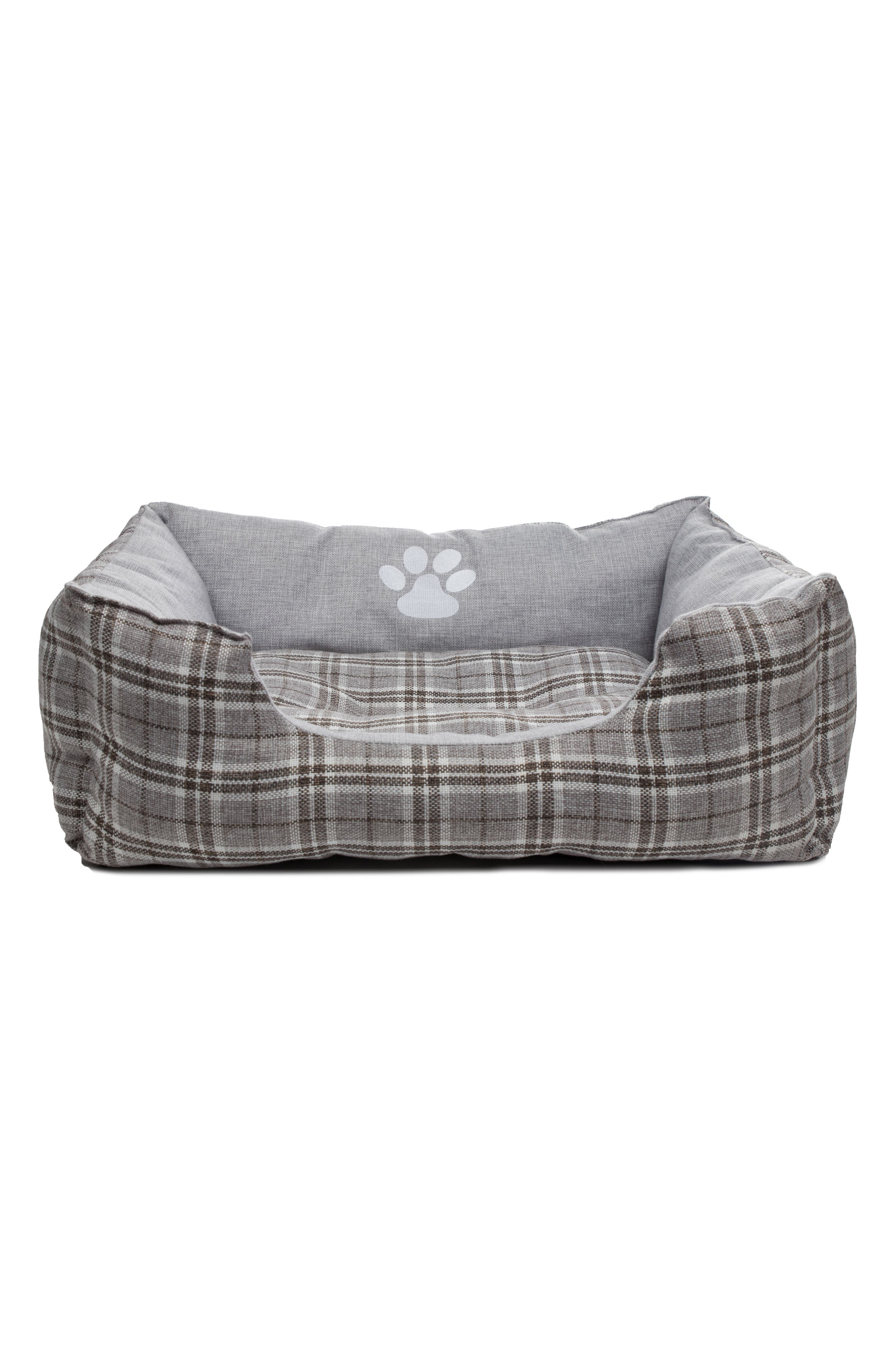 Harlee Large Square Pet Bed,                         Main,                         color, Grey