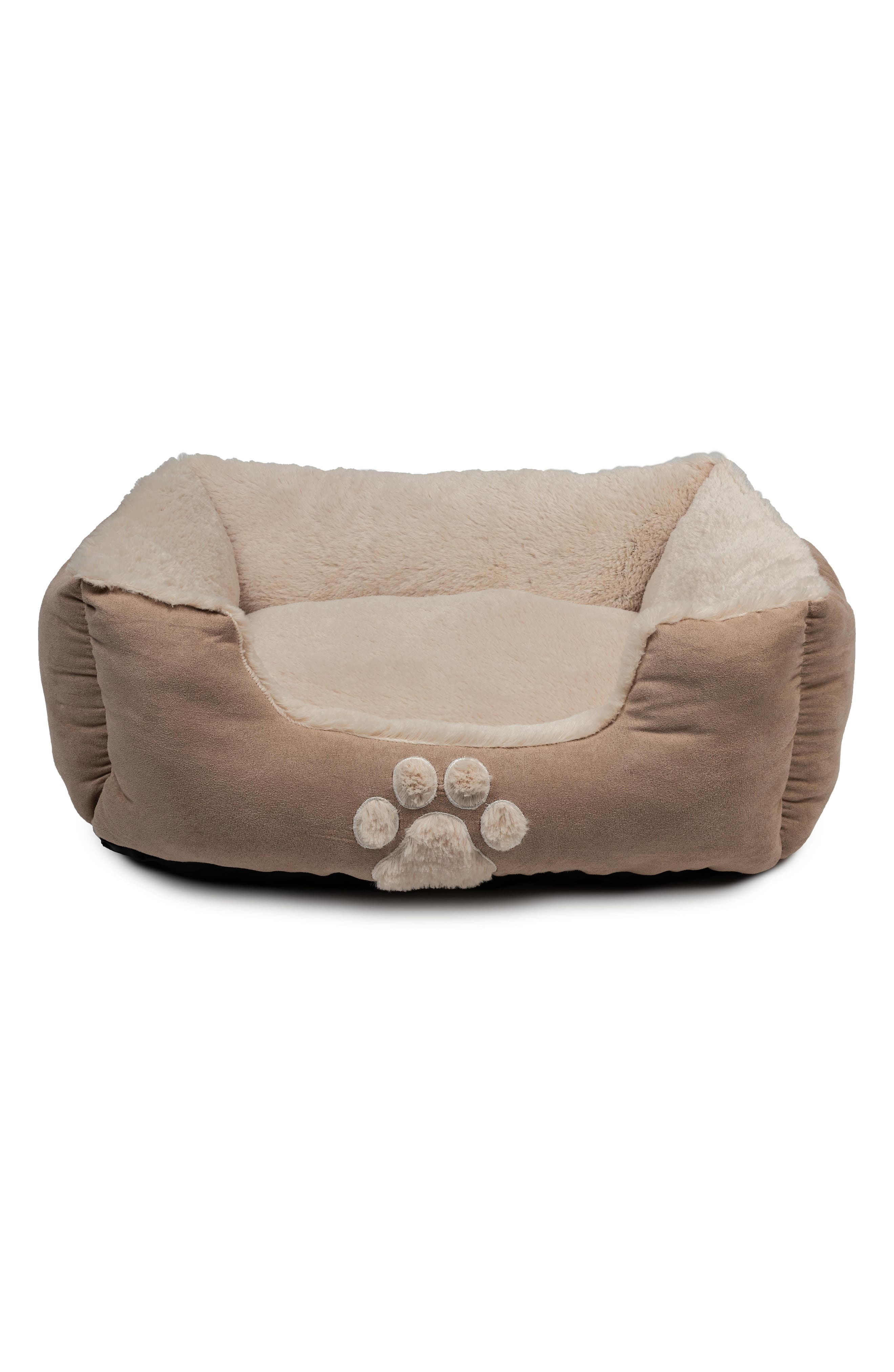 Roxi Square Pet Bed,                         Main,                         color, Taupe
