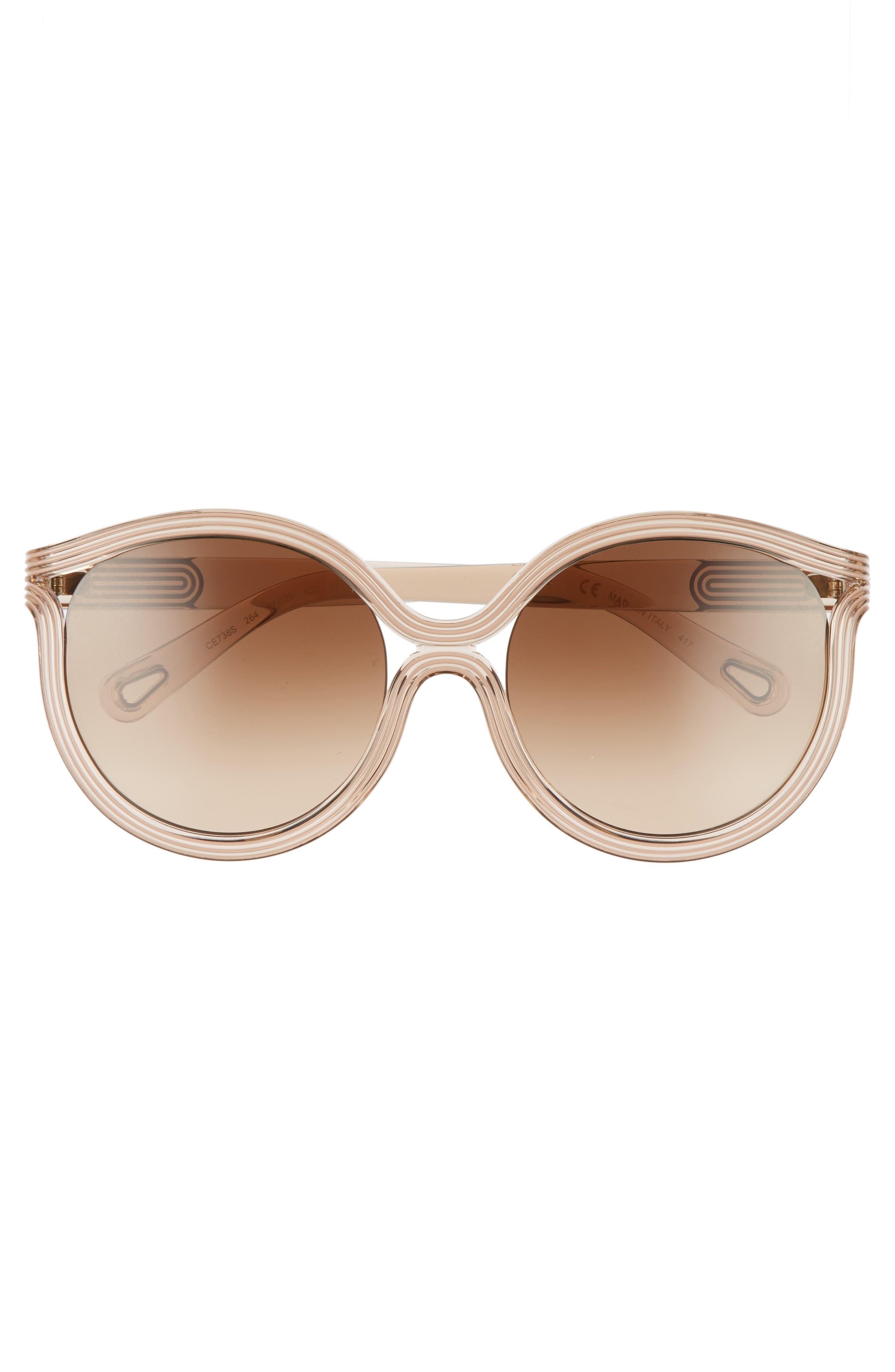 Alternate Image 3  - Chloé Grooves 57mm Cat Eye Sunglasses