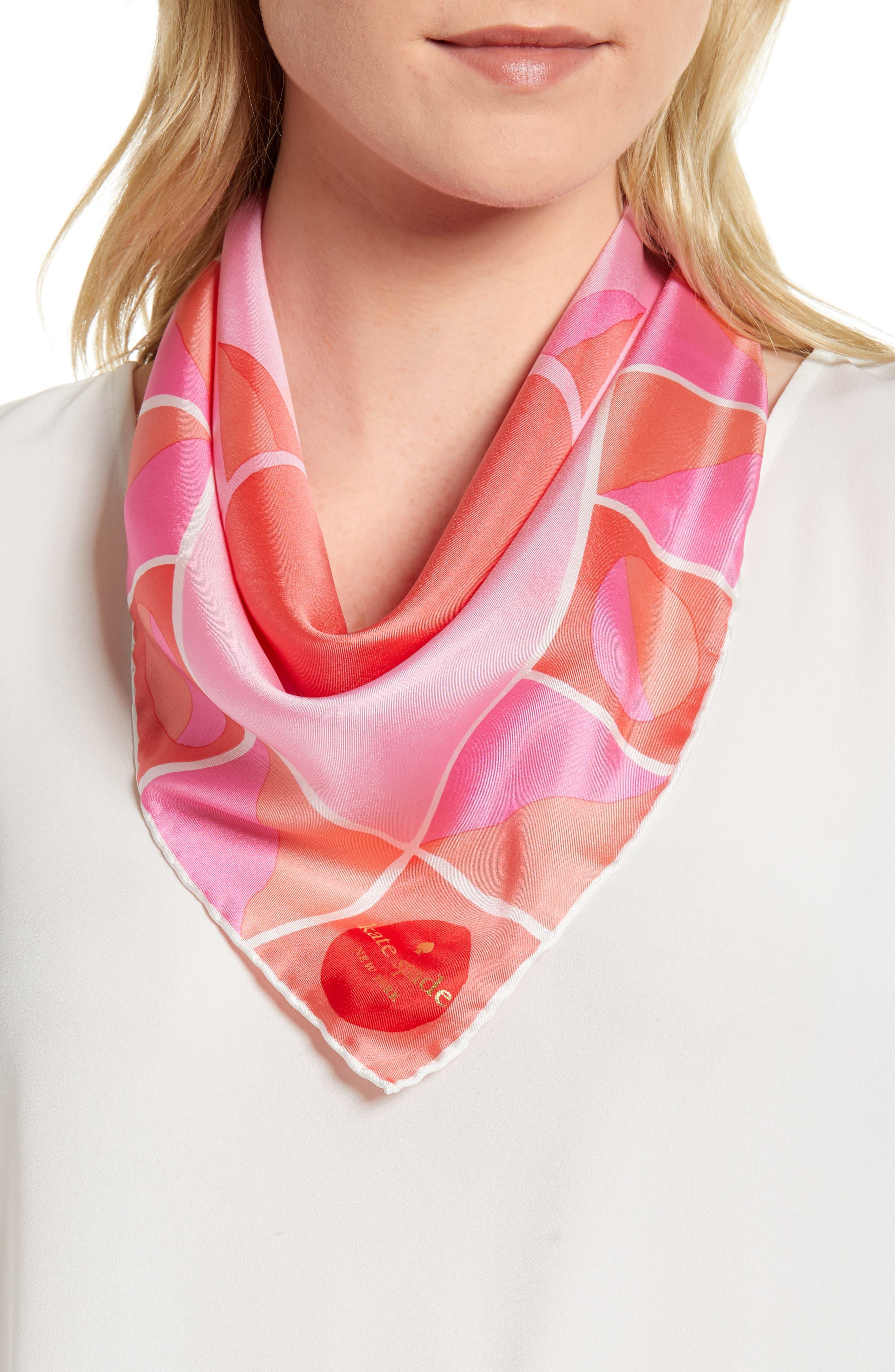 sun silk bandana,                         Main,                         color, Surf Pink
