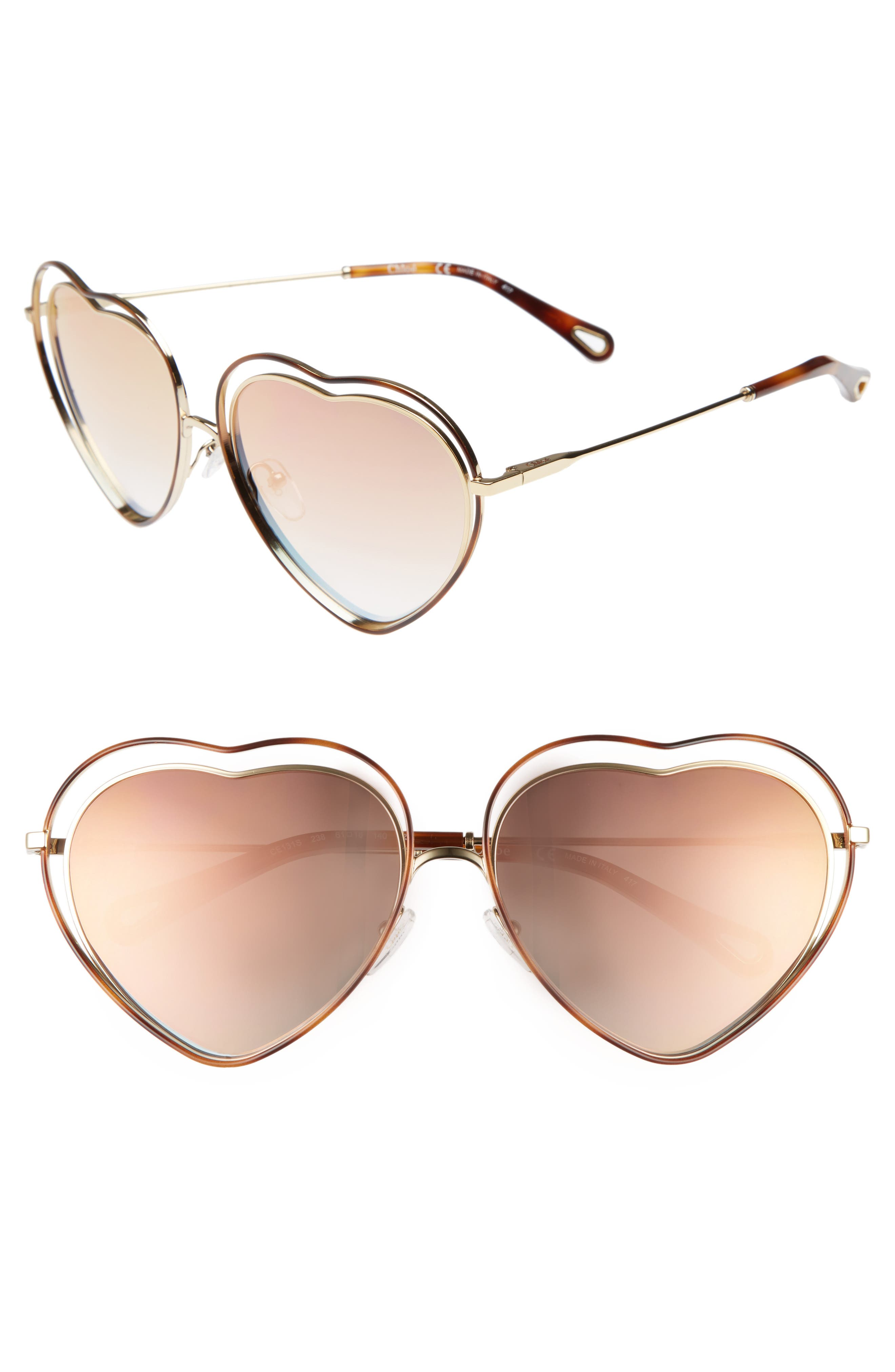 Chloé Poppy Love Heart Sunglasses