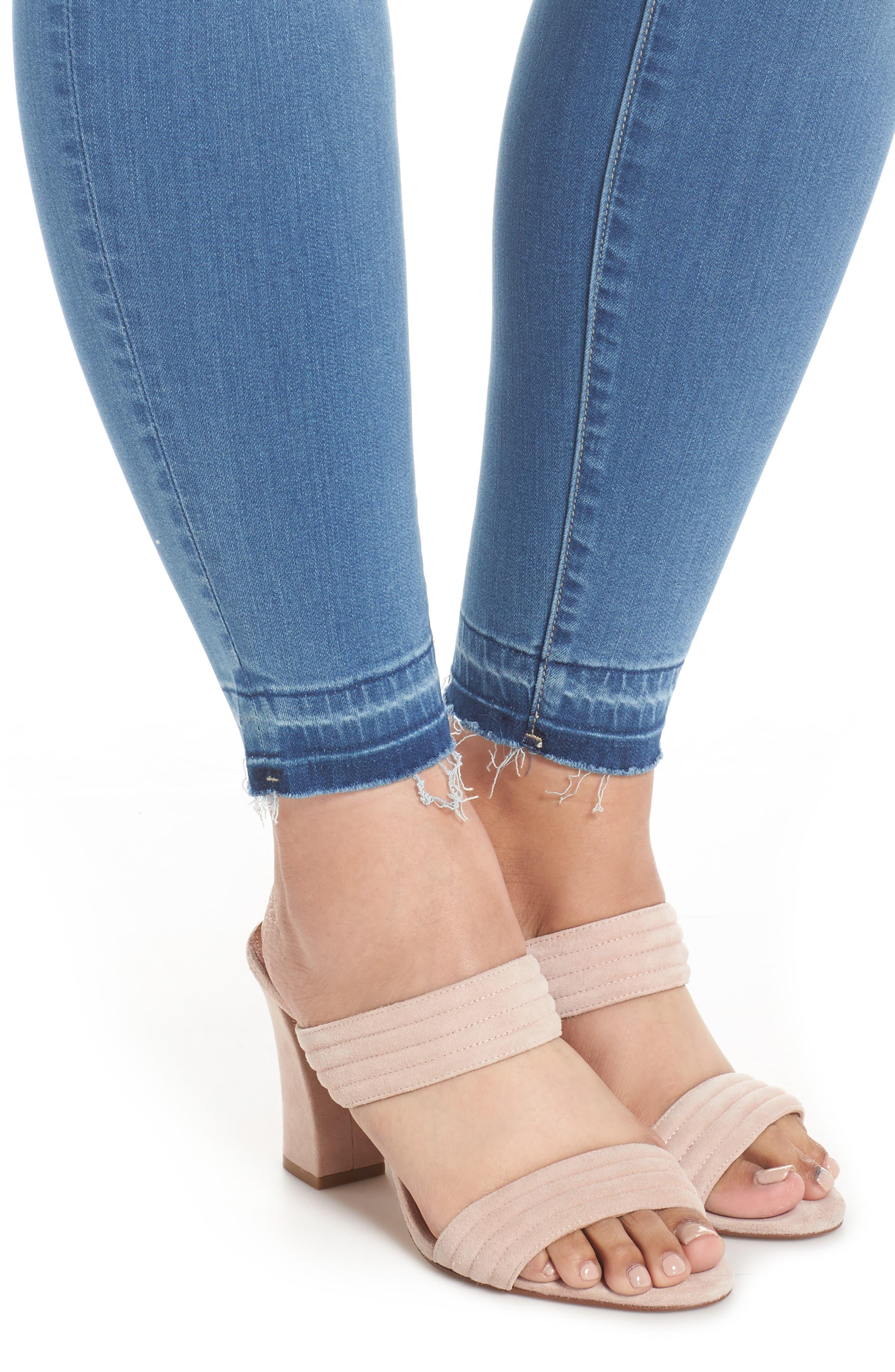 Parker Release Hem Ankle Skinny Jeans,                             Alternate thumbnail 4, color,                             Coleman