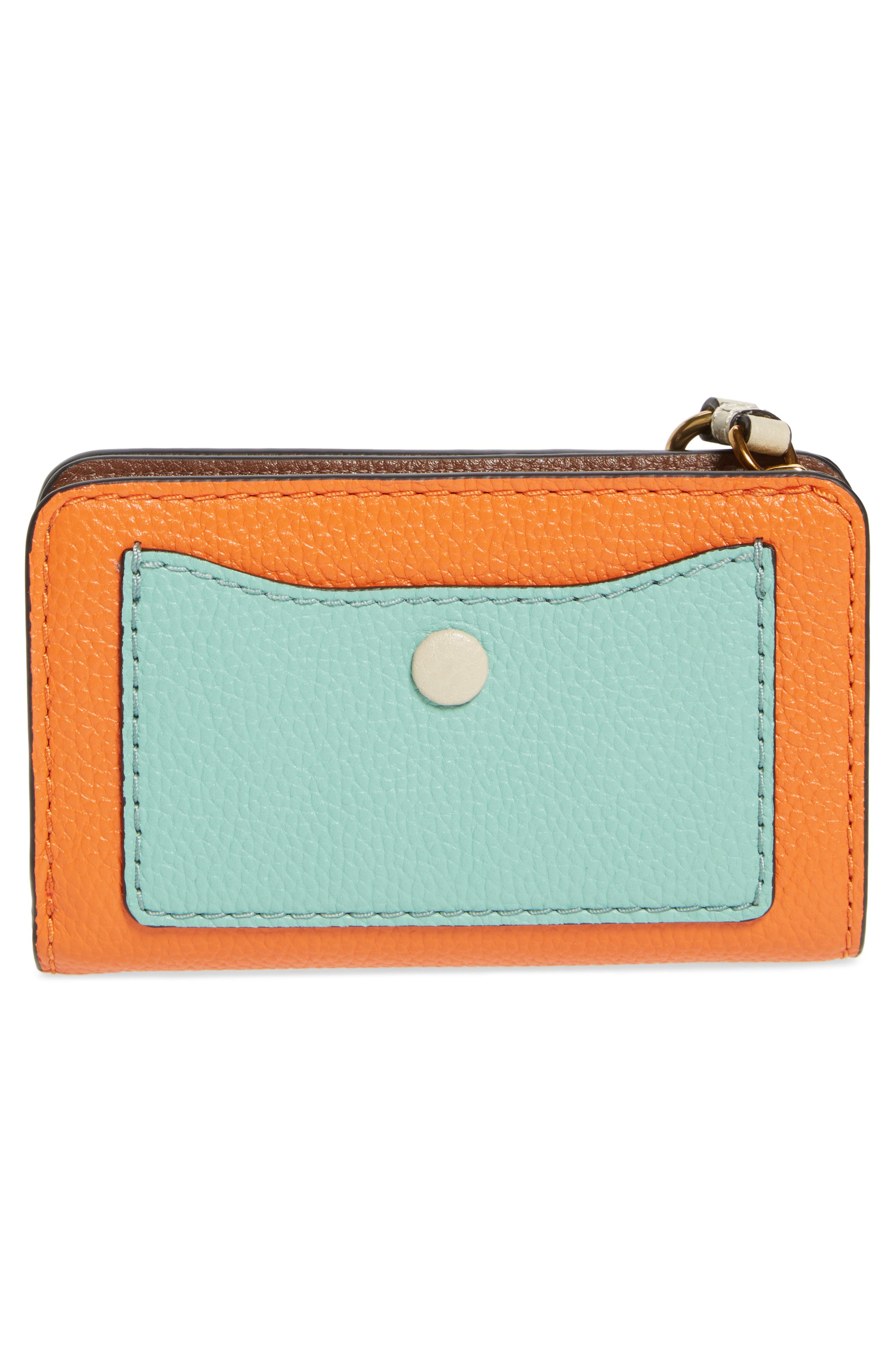 The Grind Compact Leather Wallet,                             Alternate thumbnail 4, color,                             Mandarin Multi