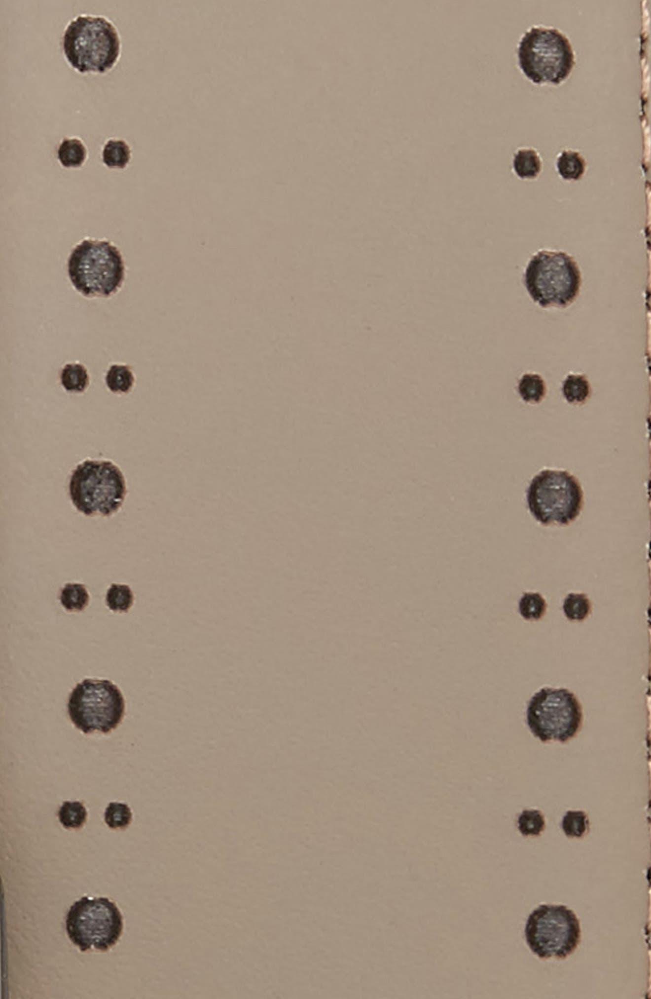 Havan Brogue Leather Belt,                             Alternate thumbnail 2, color,                             Grey