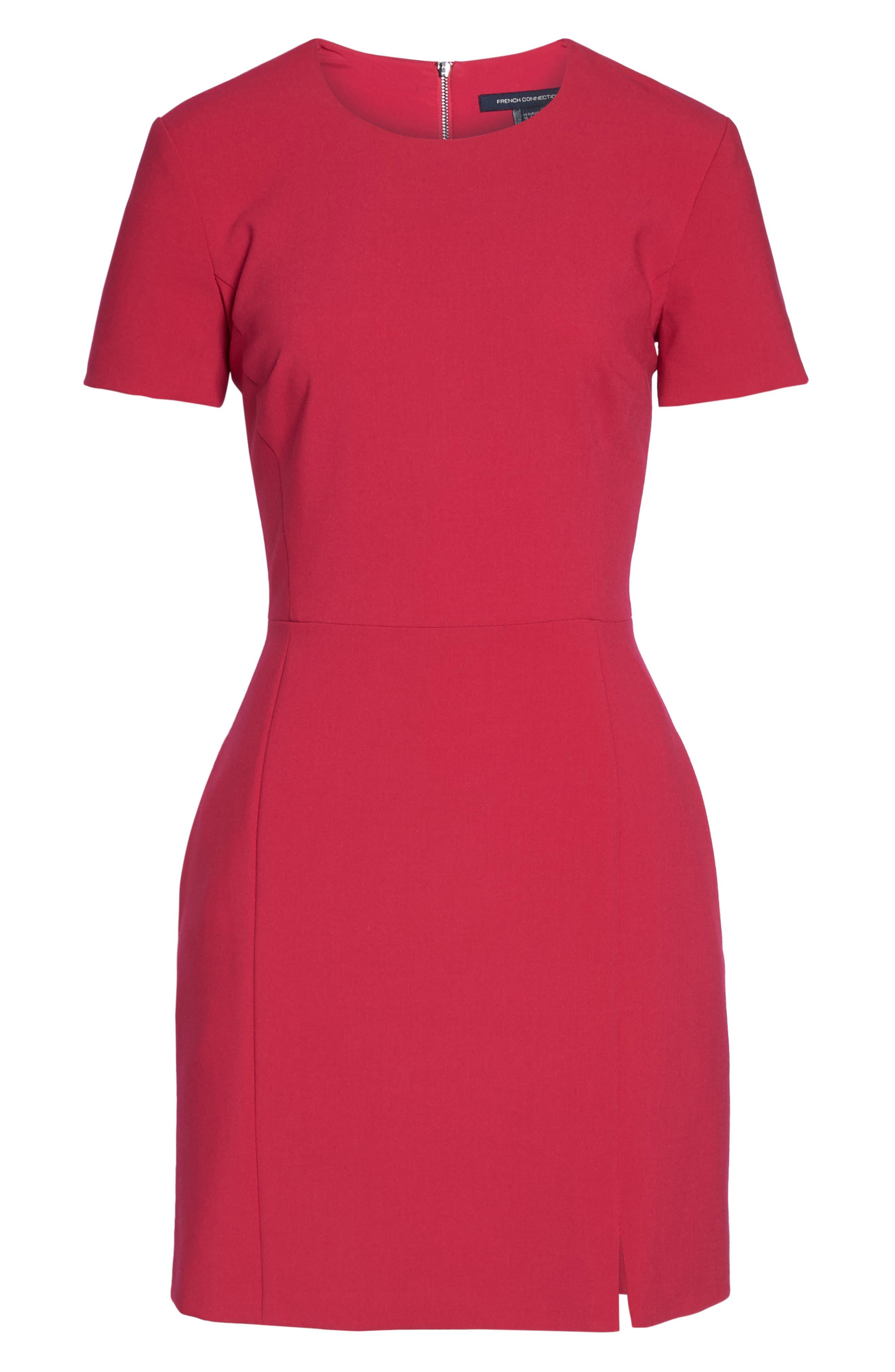 Whisper Light Sheath Dress,                             Alternate thumbnail 7, color,                             Magenta