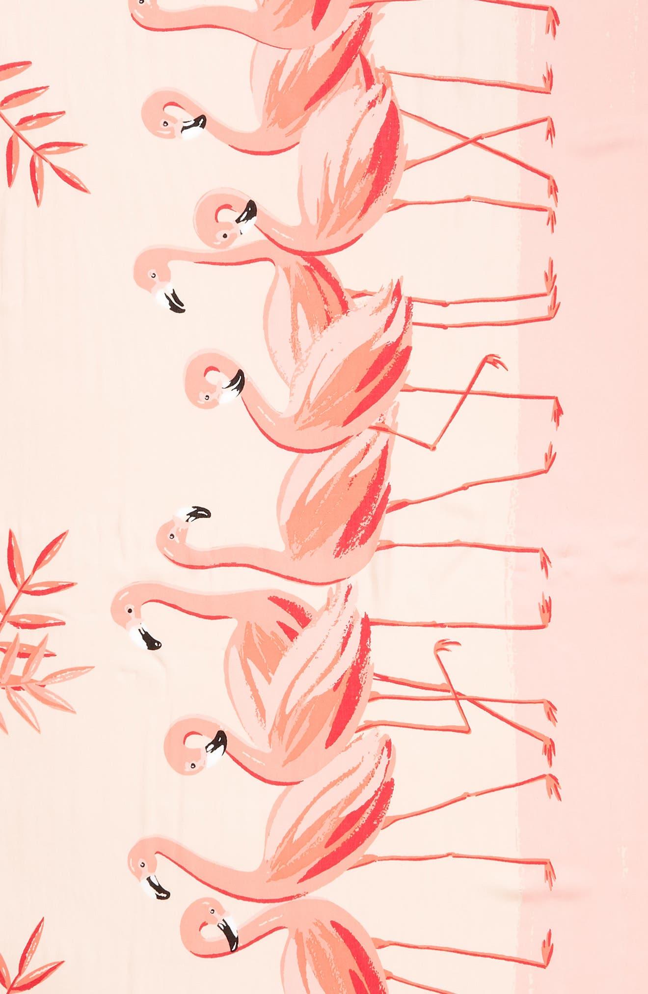 flamingo scarf,                             Alternate thumbnail 4, color,                             Apricot Sorbet