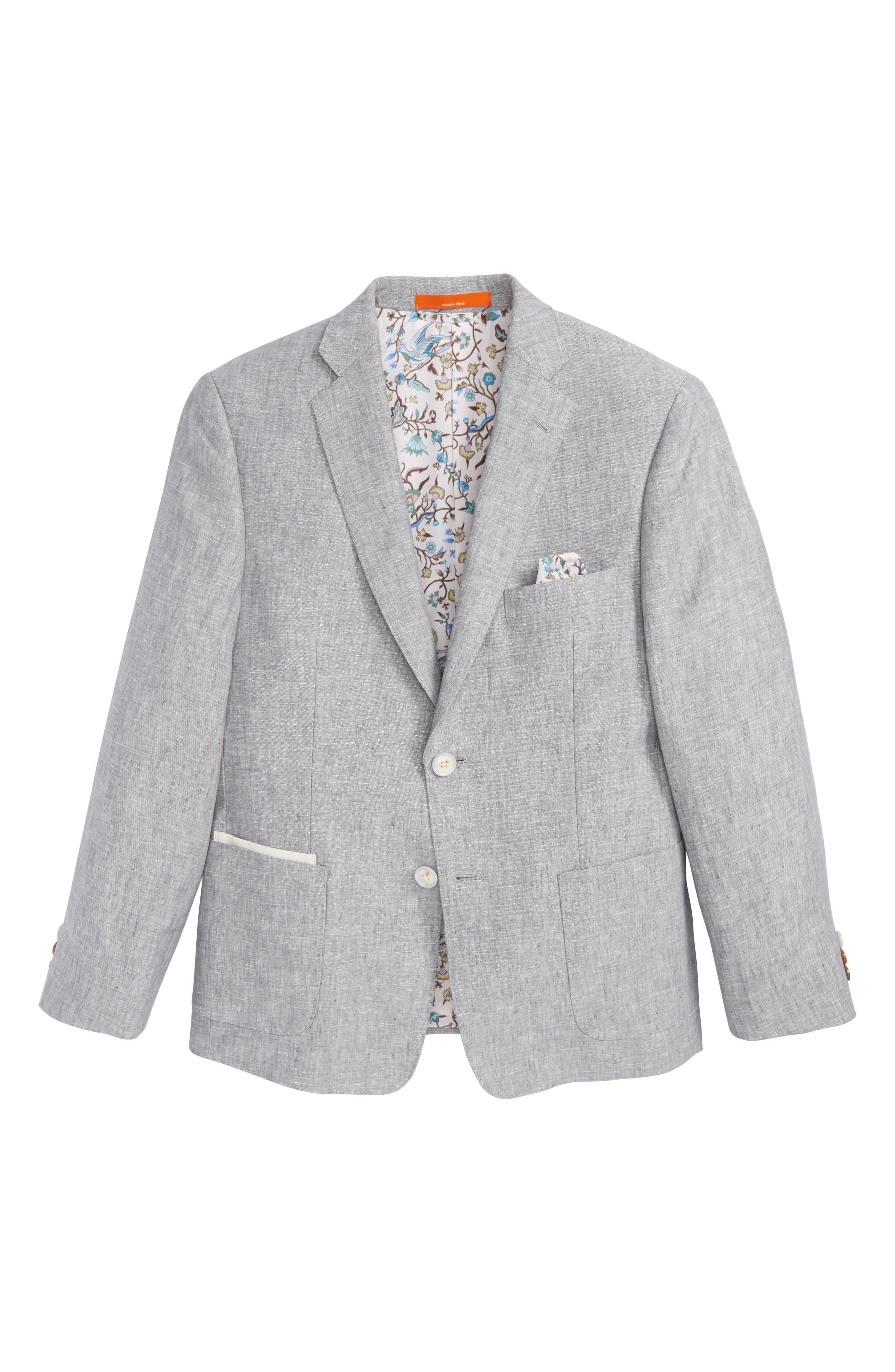 Alternate Image 1 Selected - Tallia Linen Blazer (Big Boys)