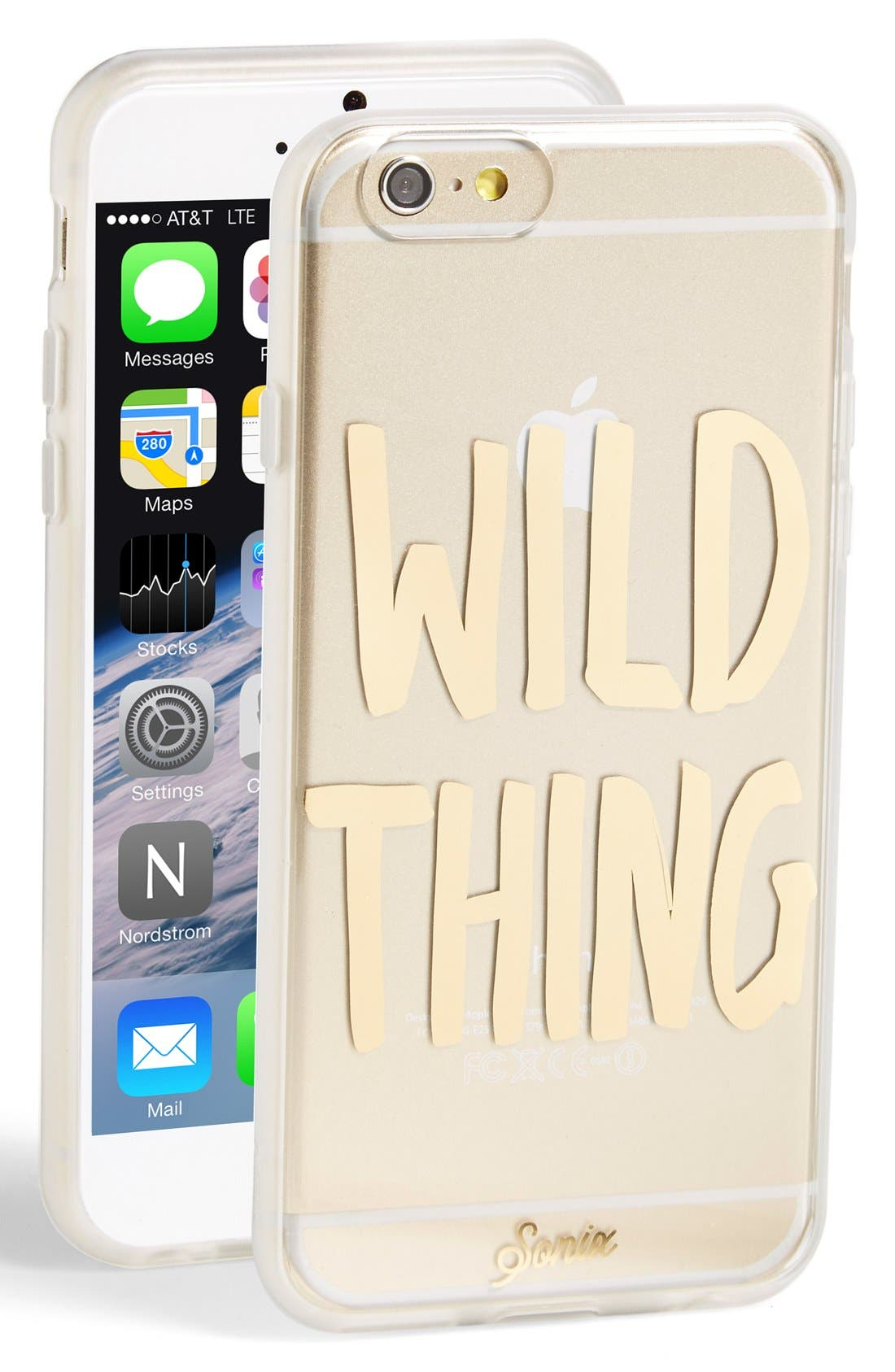 'Wild Thing' iPhone 6 & 6s Case,                         Main,                         color, Gold
