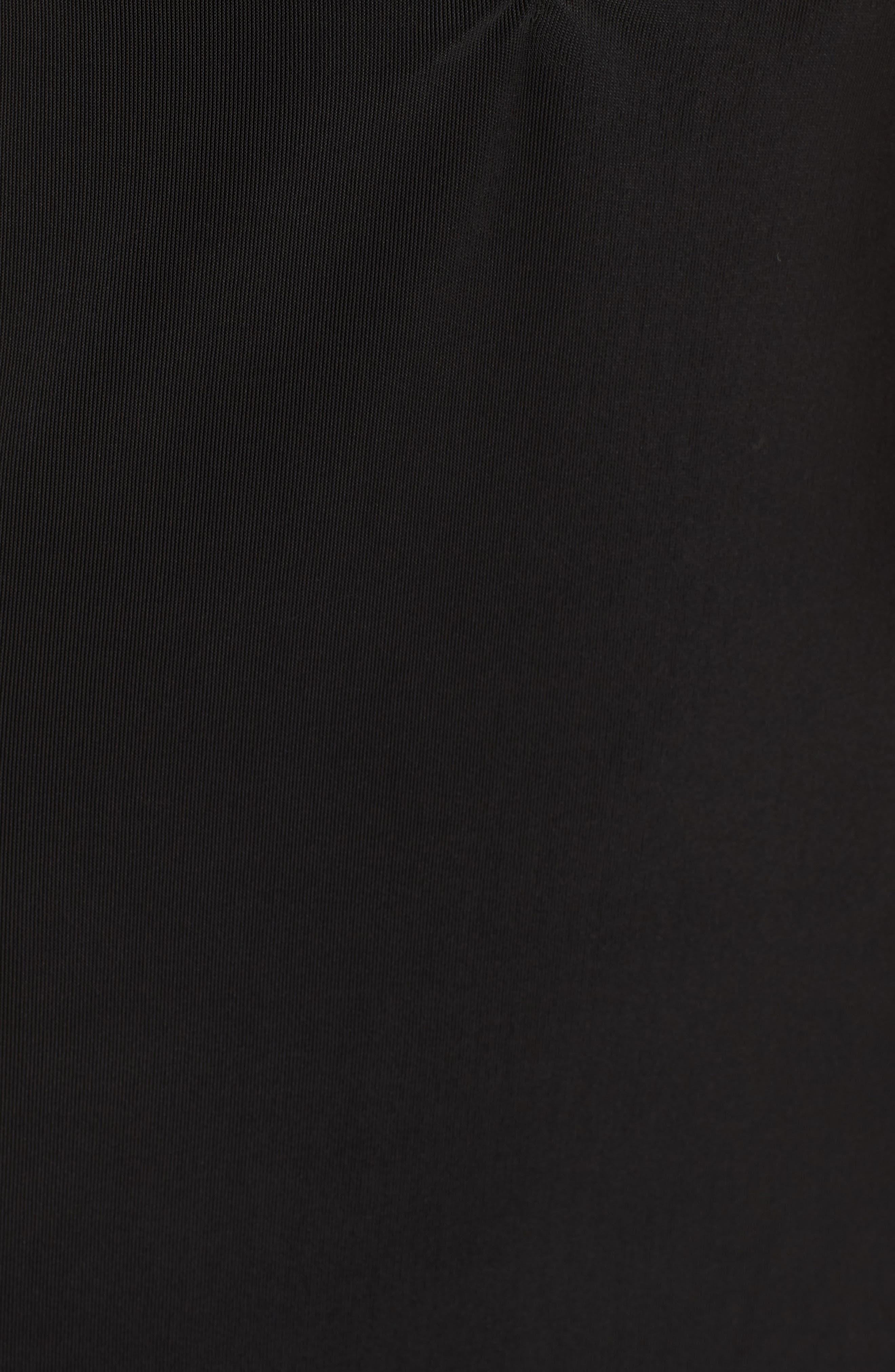 Smocked Body-Con Dress,                             Alternate thumbnail 5, color,                             Black