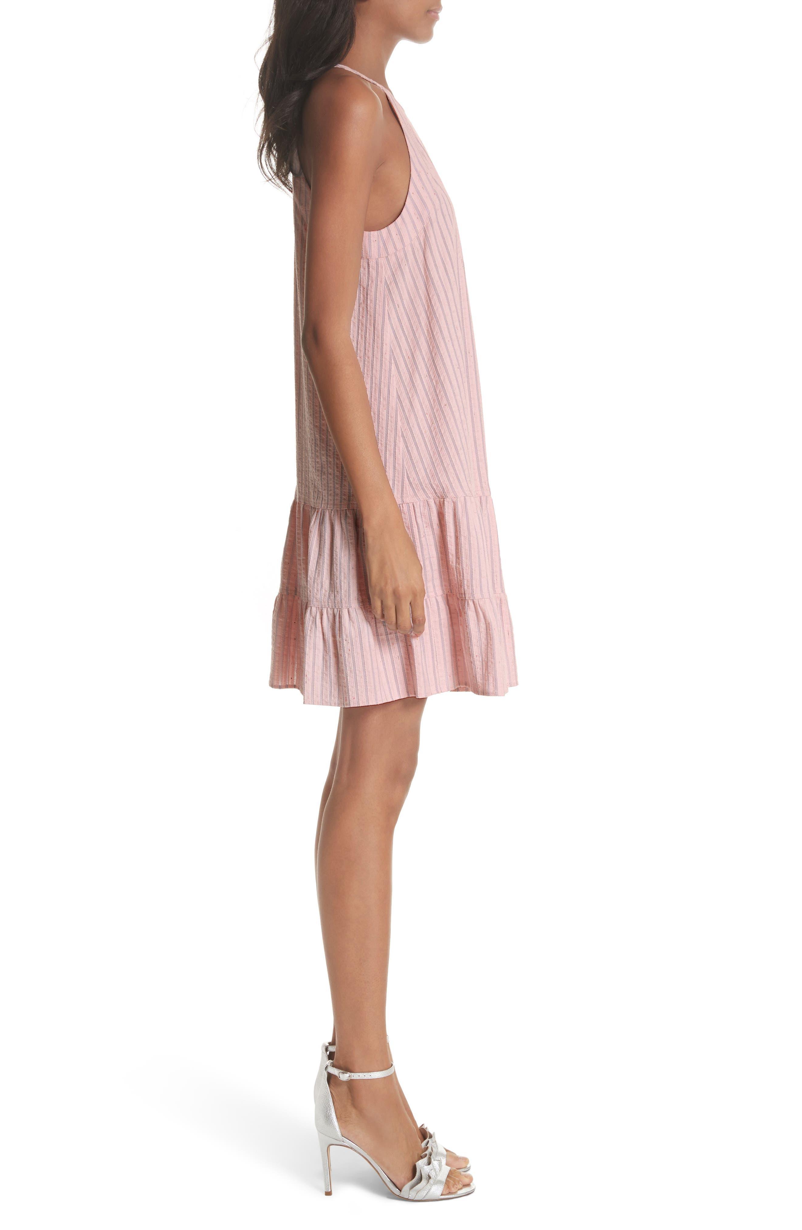 Sleeveless Stripe Tank Dress,                             Alternate thumbnail 3, color,                             Candy Floss Combo