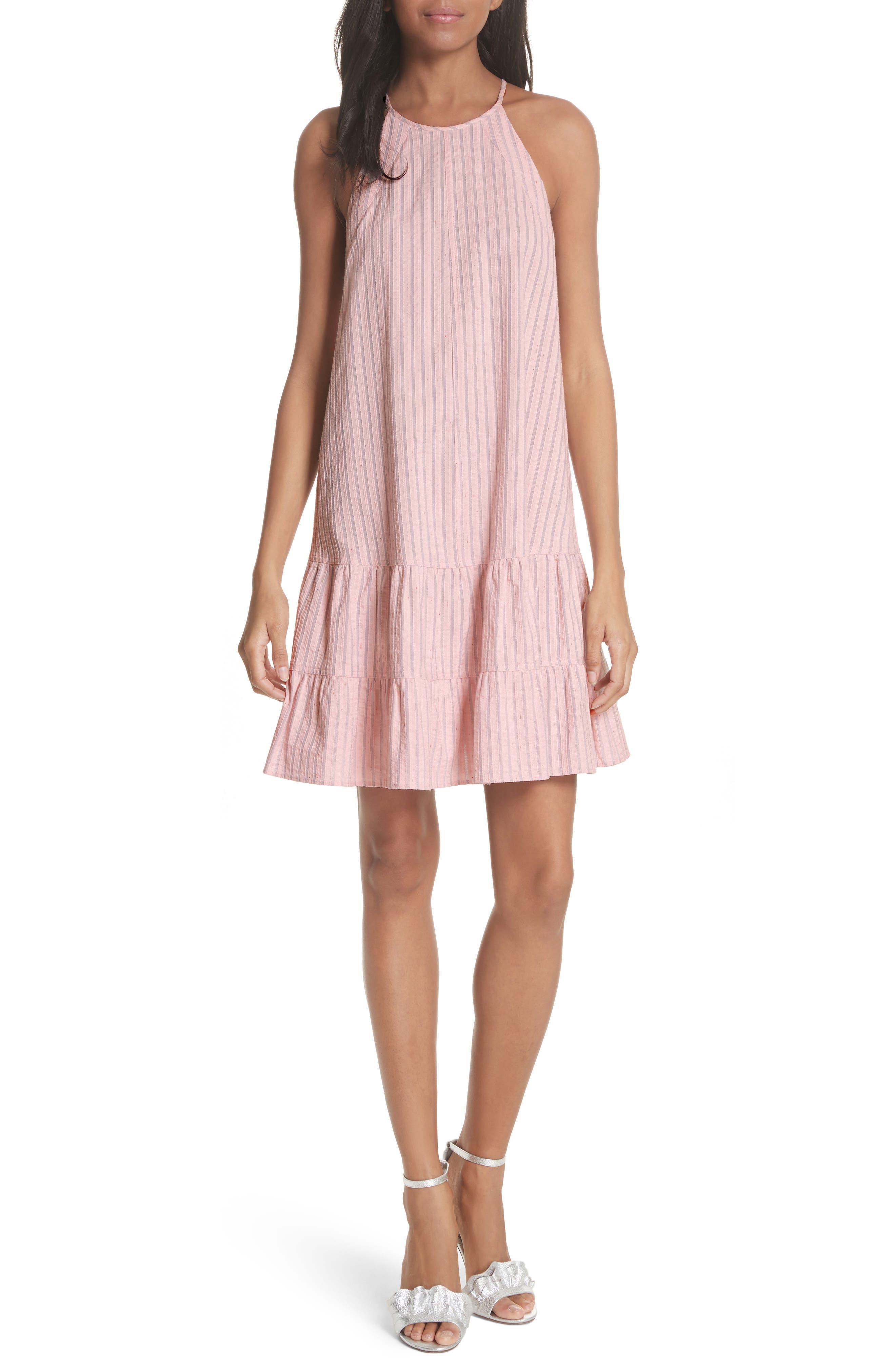 Sleeveless Stripe Tank Dress,                         Main,                         color, Candy Floss Combo