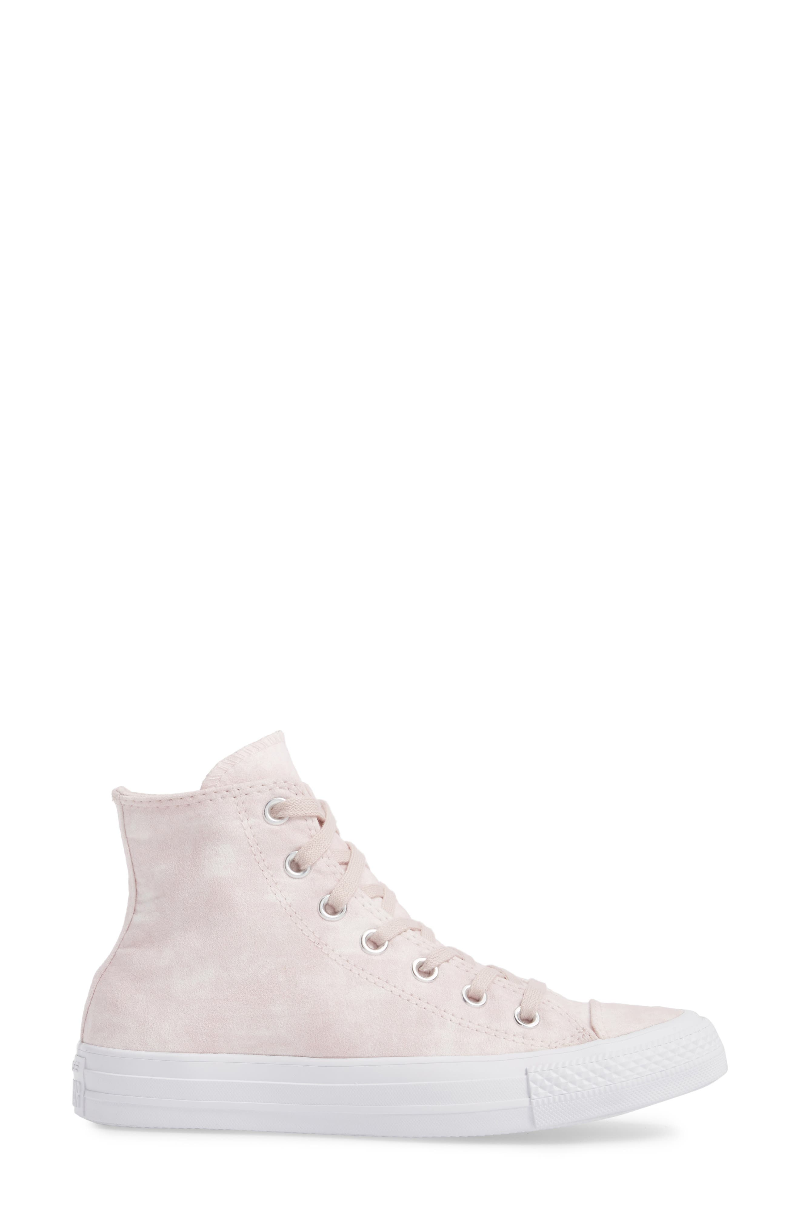Chuck Taylor<sup>®</sup> All Star<sup>®</sup> Peached High Top Sneaker,                             Alternate thumbnail 3, color,                             Barely Rose