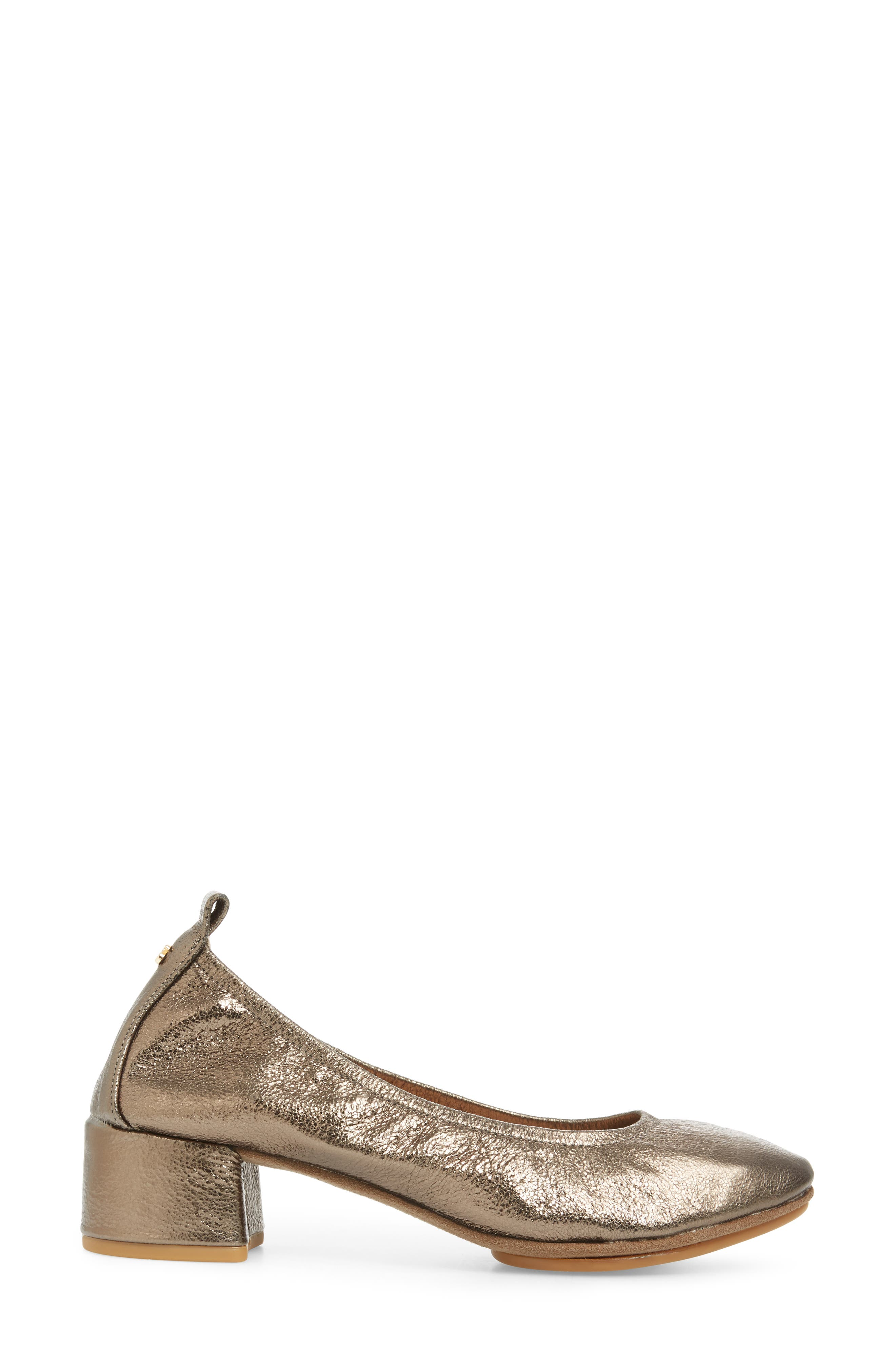 Nadia Pump,                             Alternate thumbnail 3, color,                             Gold Leather