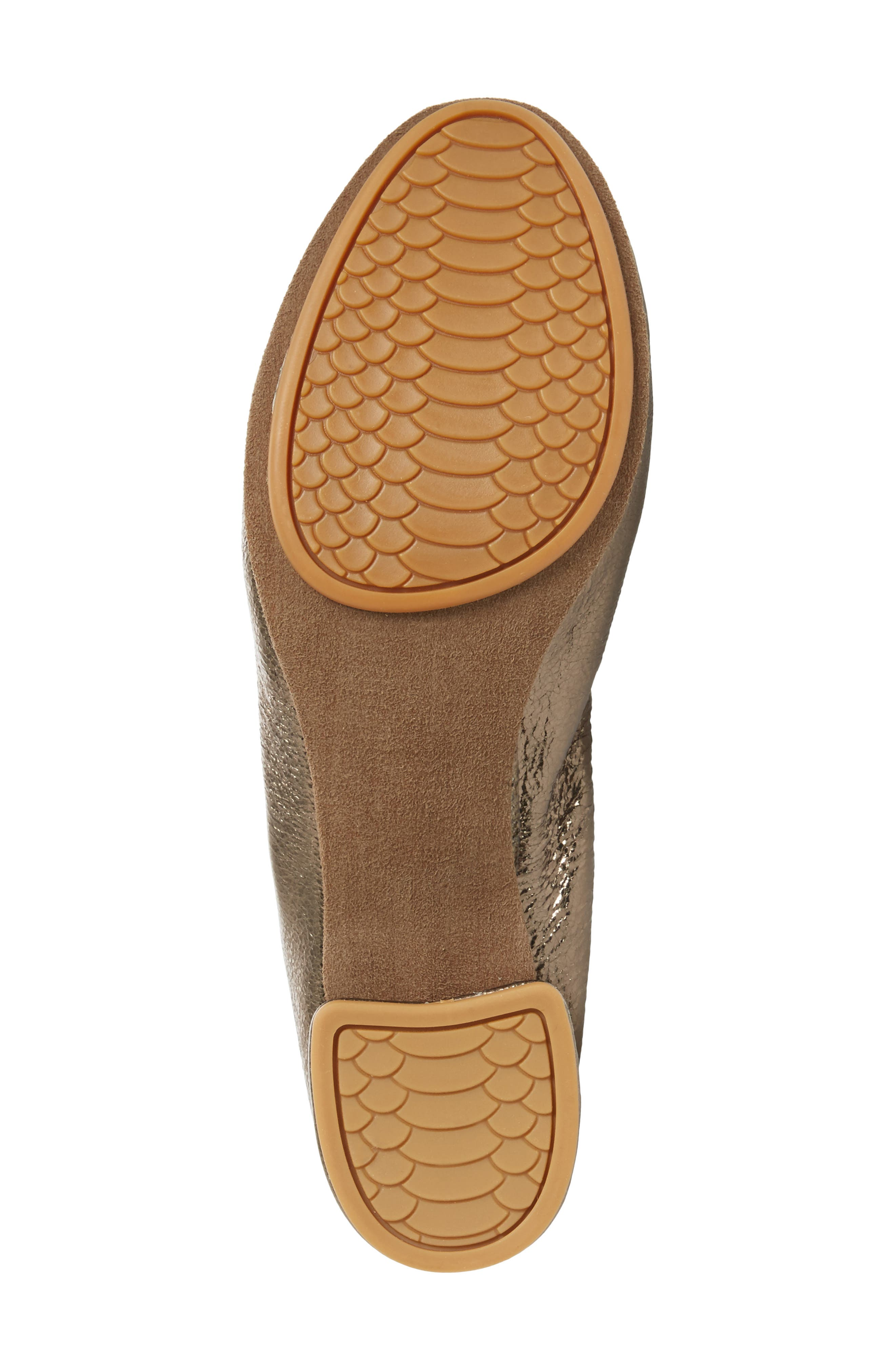 Nadia Pump,                             Alternate thumbnail 6, color,                             Gold Leather