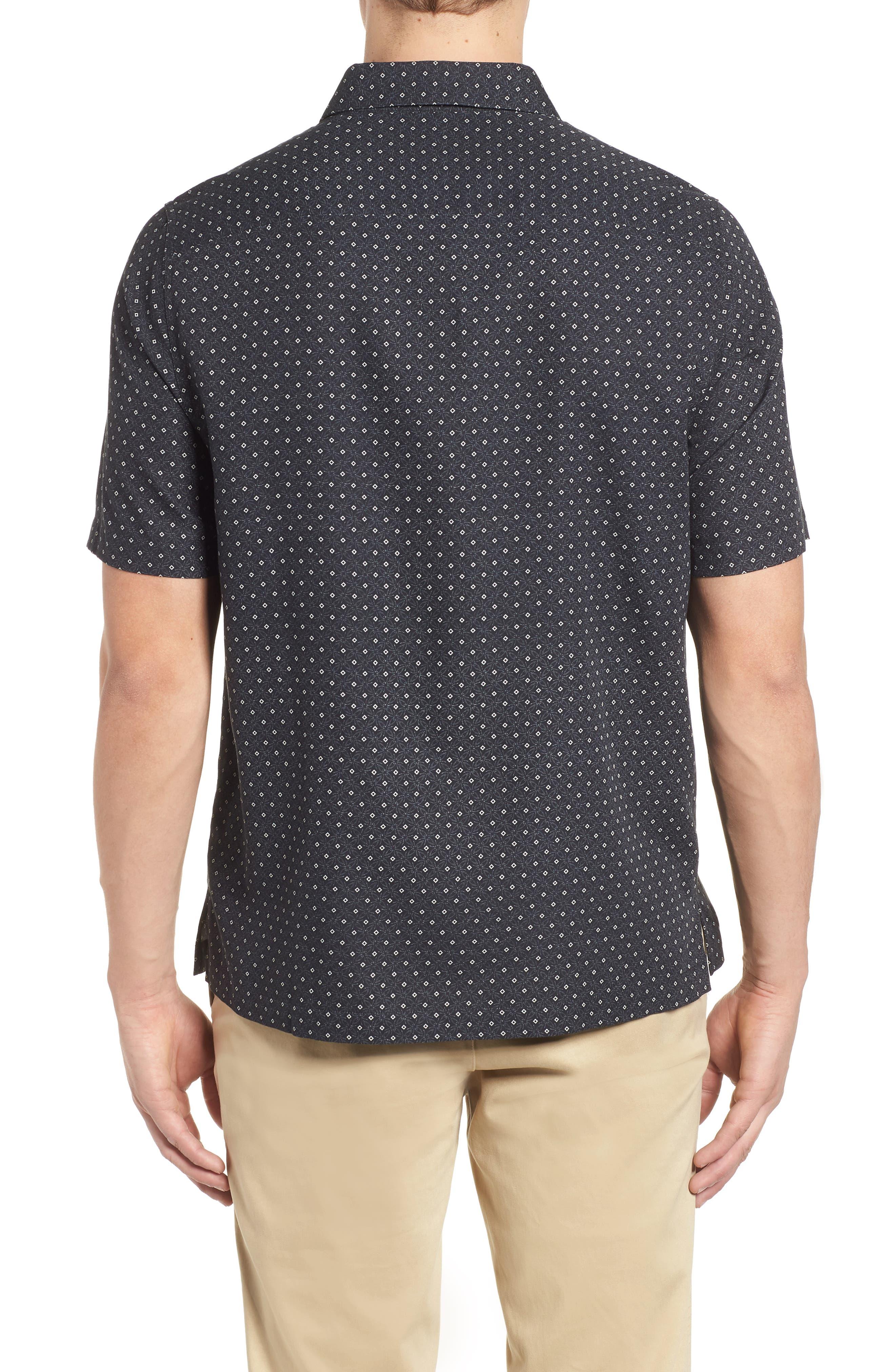 Fleural Camp Shirt,                             Alternate thumbnail 2, color,                             Black