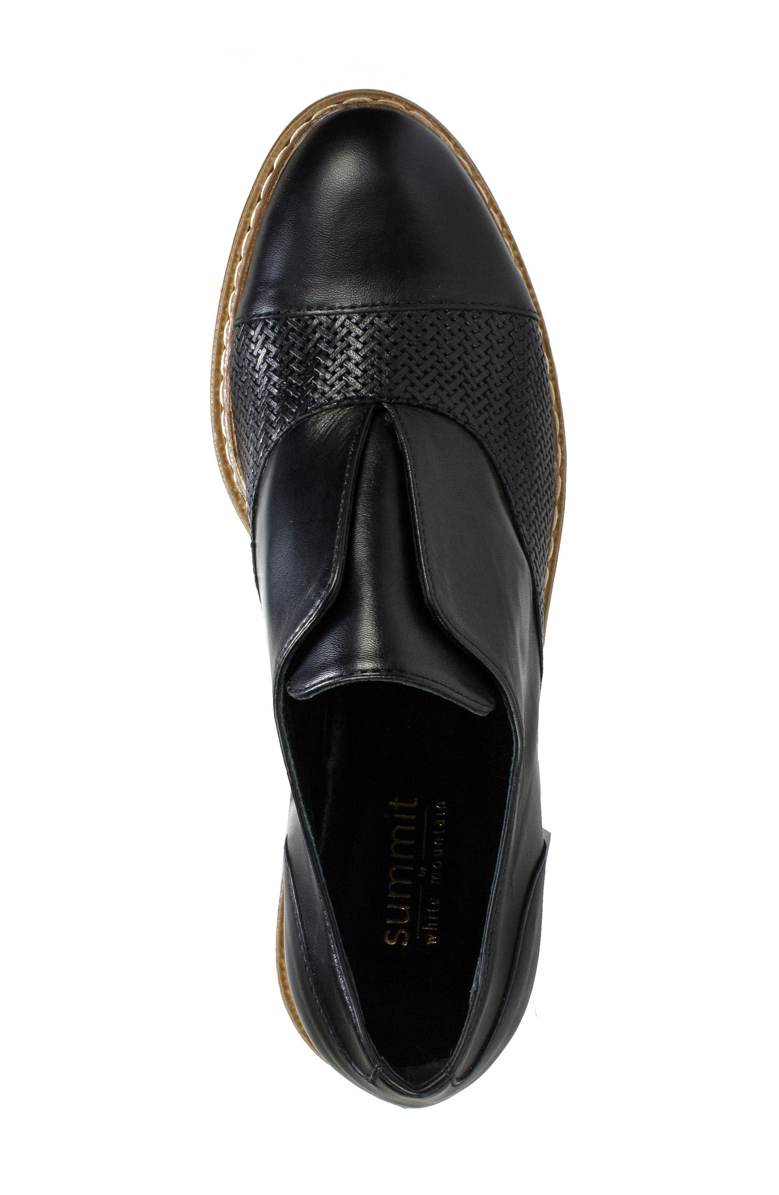 Bliss Loafer,                             Alternate thumbnail 5, color,                             Black Leather
