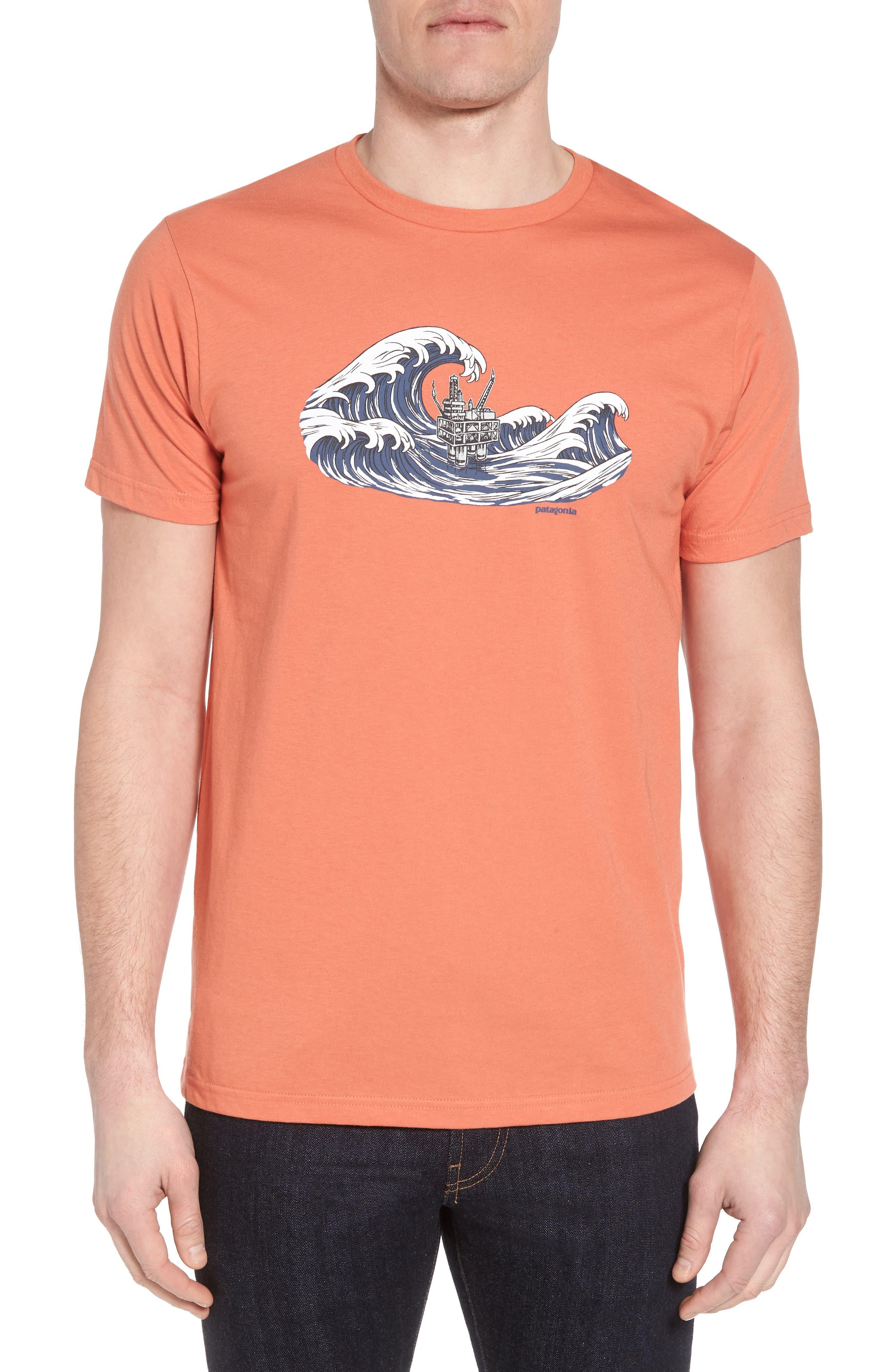 Patagonia Oily Olas Slim Fit Organic Cotton T-Shirt