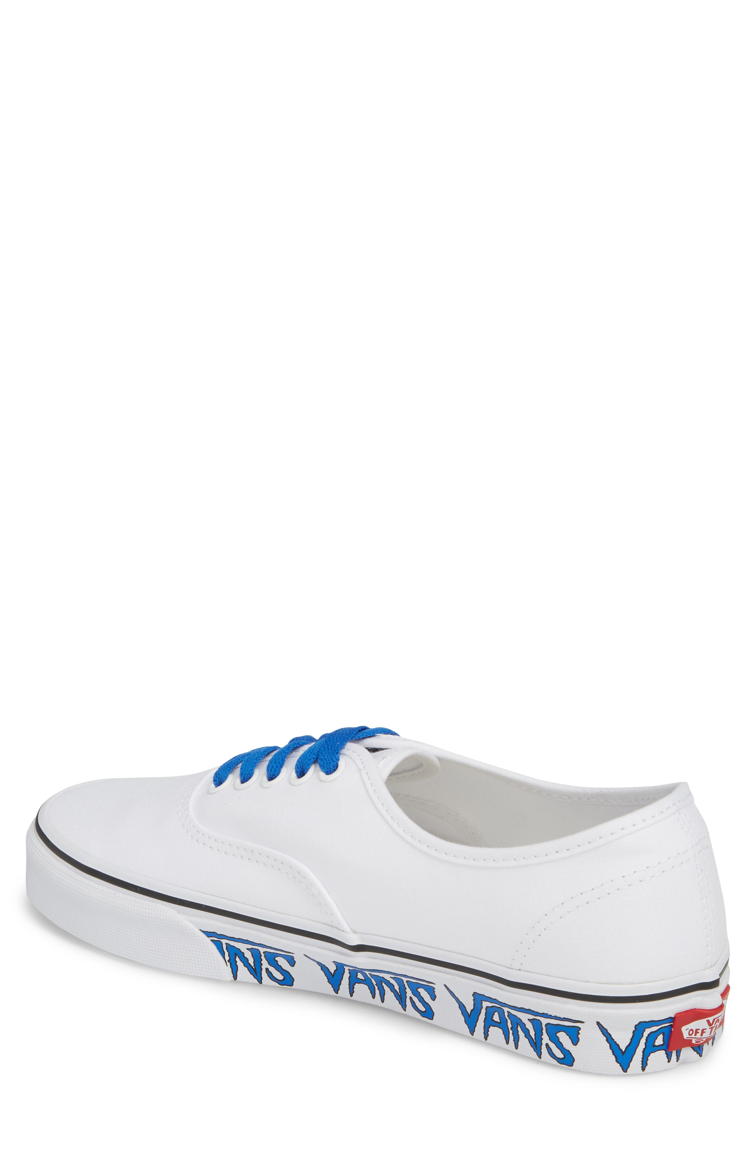 Authentic Sketch Sidewall Sneaker,                             Alternate thumbnail 2, color,                             True White/ Victoria Blue