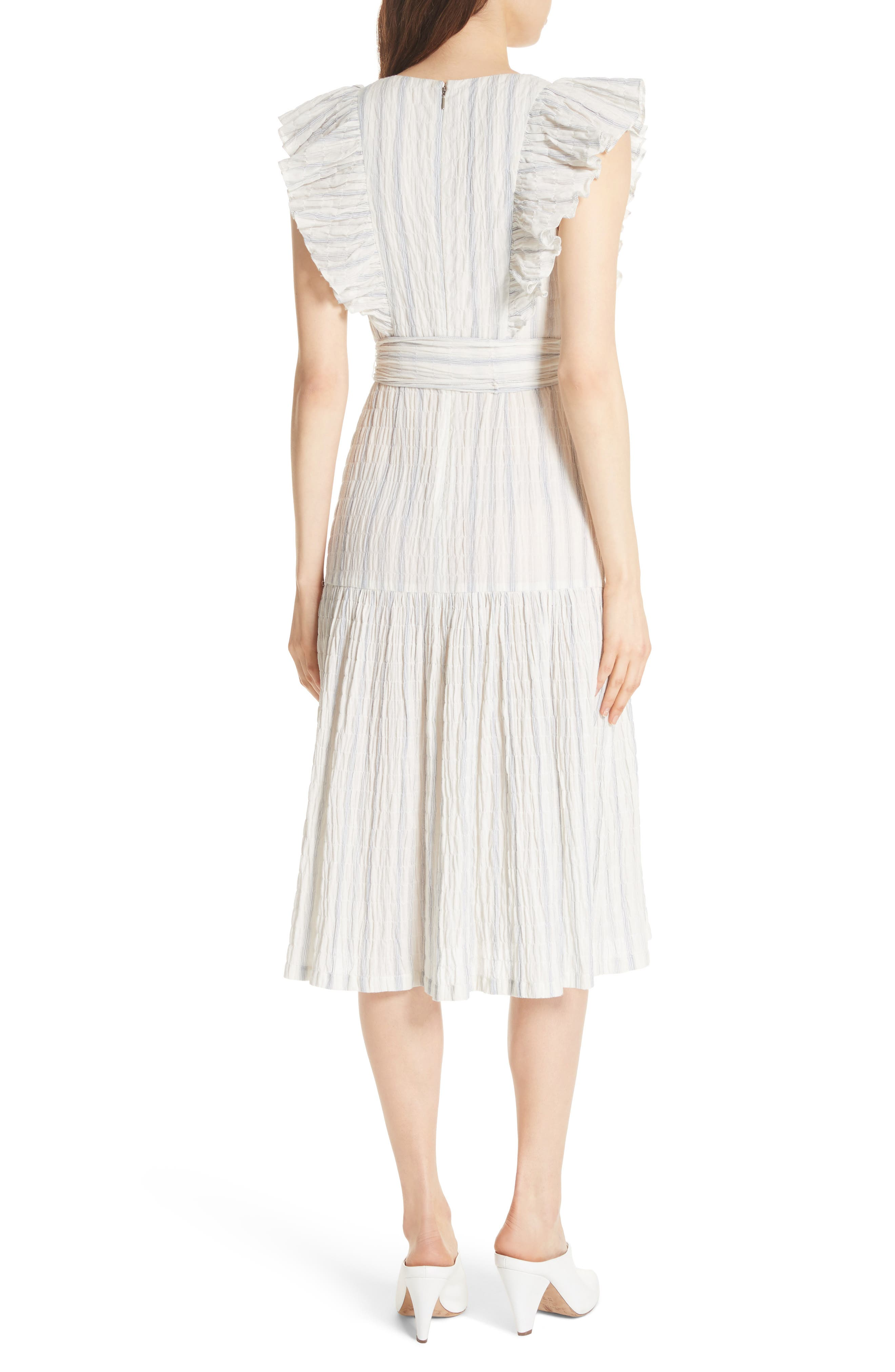 Alternate Image 2  - Rebecca Taylor Stripe Midi Dress
