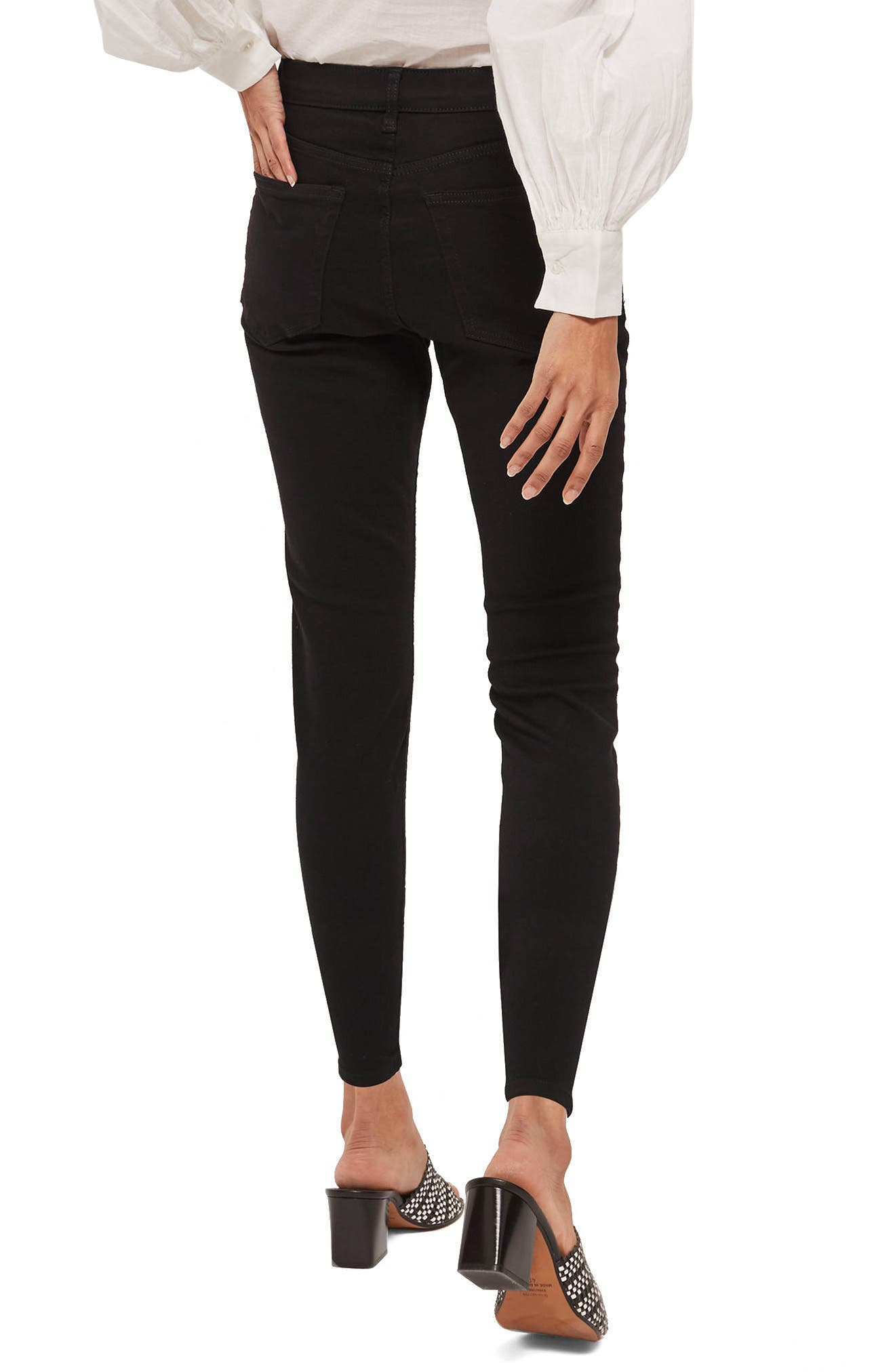 Jamie Petite Black Jeans,                             Alternate thumbnail 2, color,                             Black