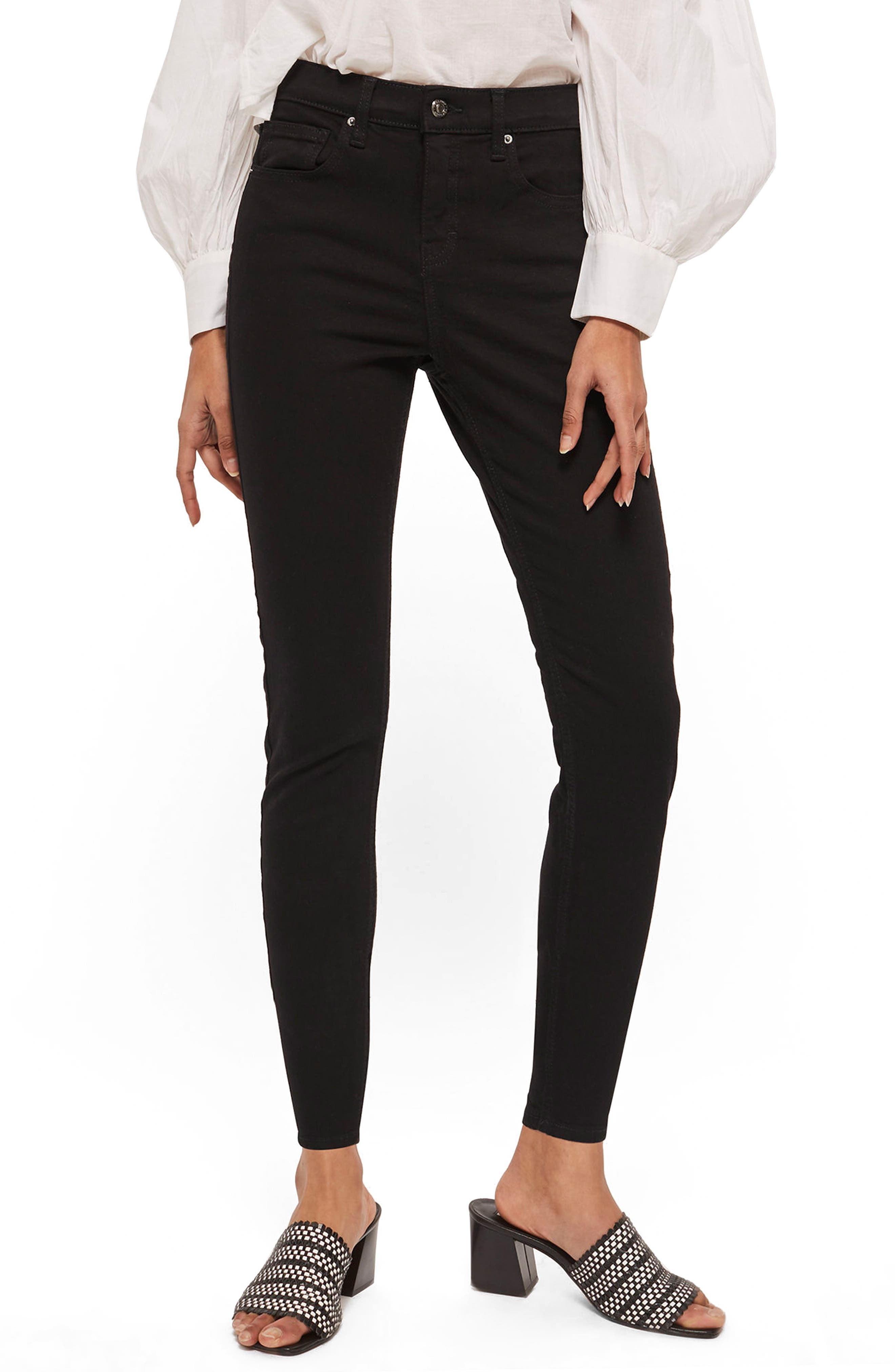 Jamie Petite Black Jeans,                             Main thumbnail 1, color,                             Black