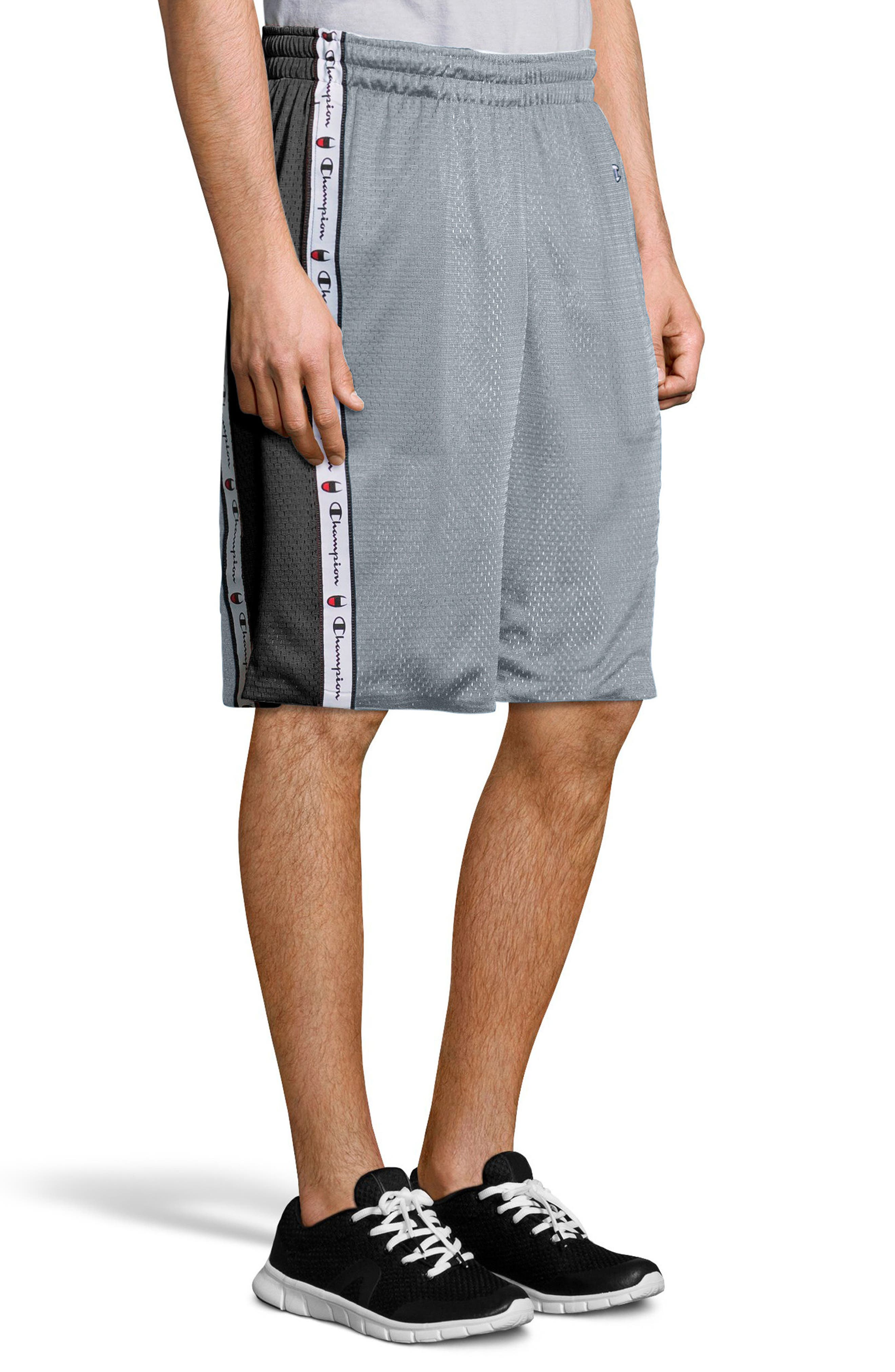 Reversible Mesh Shorts,                             Alternate thumbnail 3, color,                             Silverstone/ Black