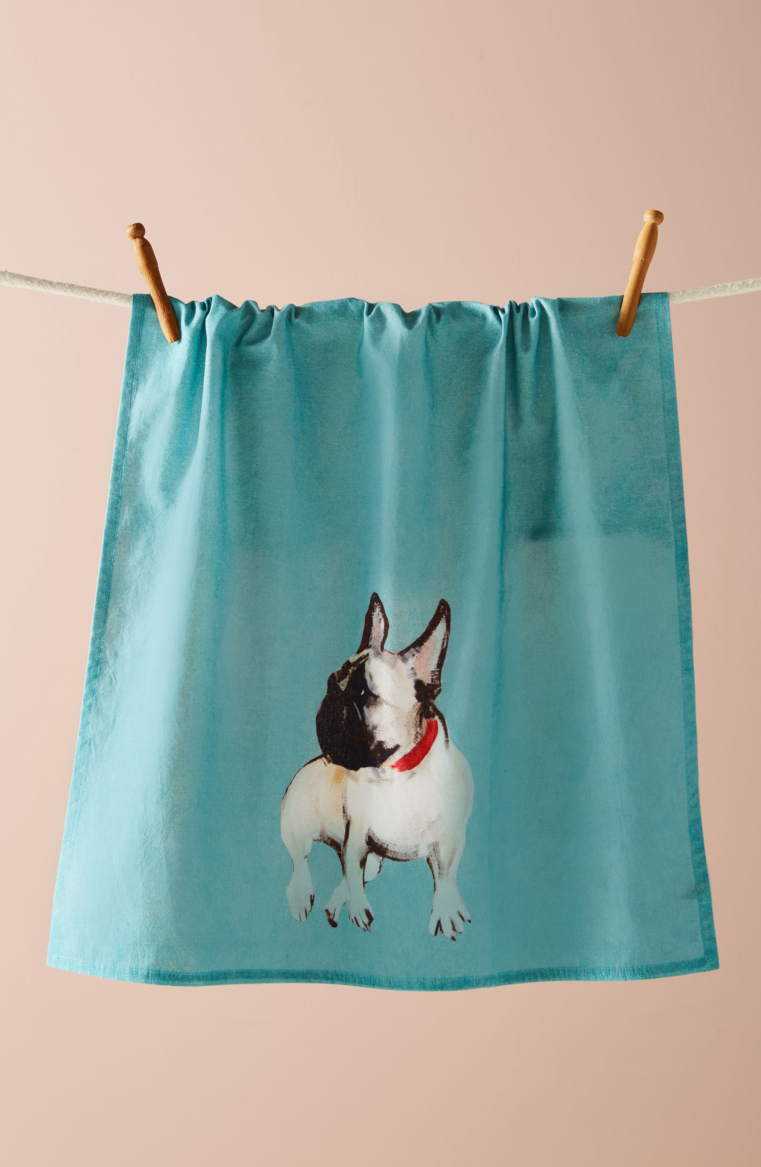 Dog-a-Day Dishtowel,                             Main thumbnail 1, color,                             Turquoise