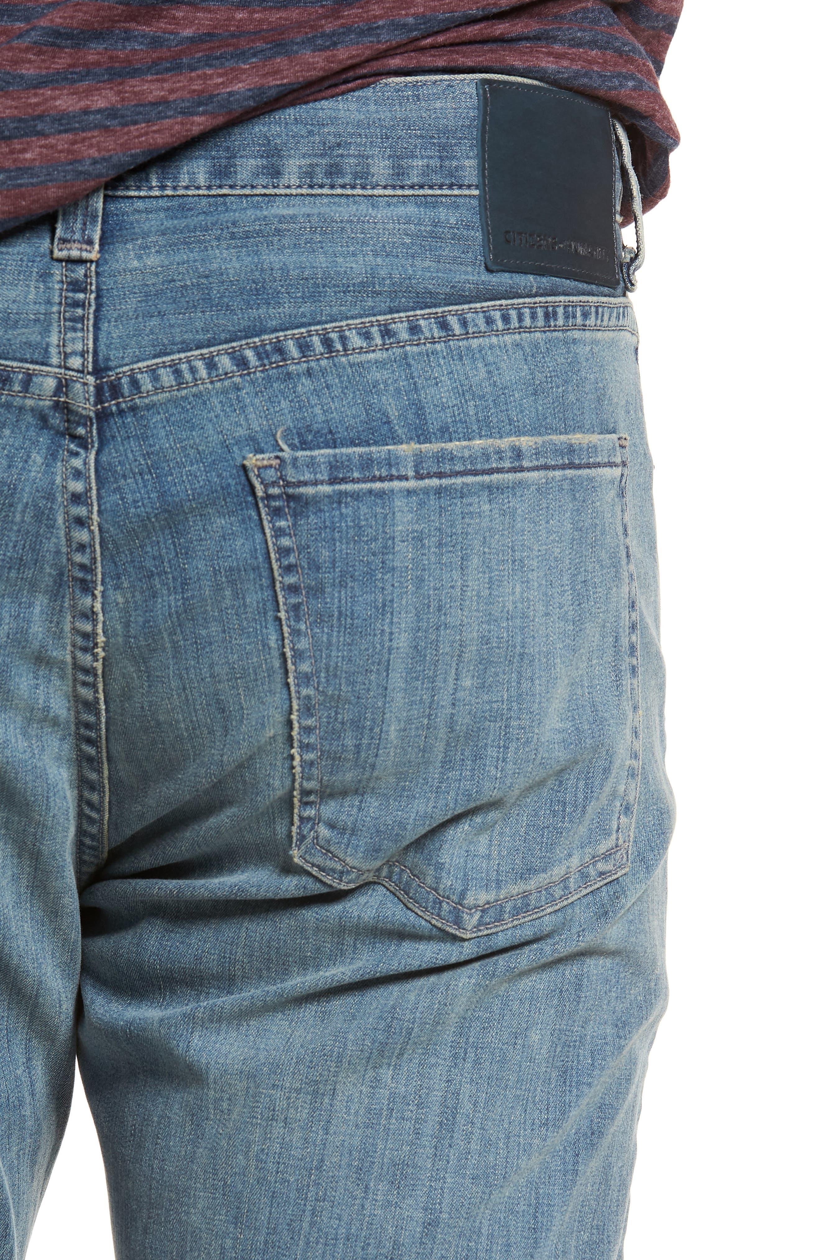Gage Slim Straight Leg Jeans,                             Alternate thumbnail 4, color,                             Costa