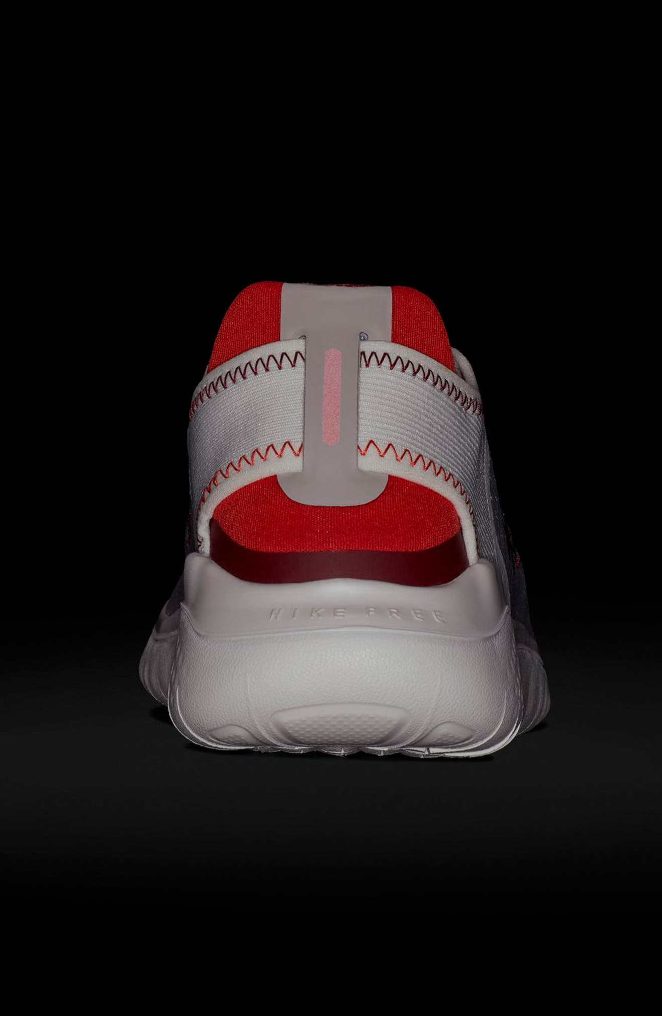 Free RN 2018 Running Shoe,                             Alternate thumbnail 6, color,                             Moon Particle/ Team Red