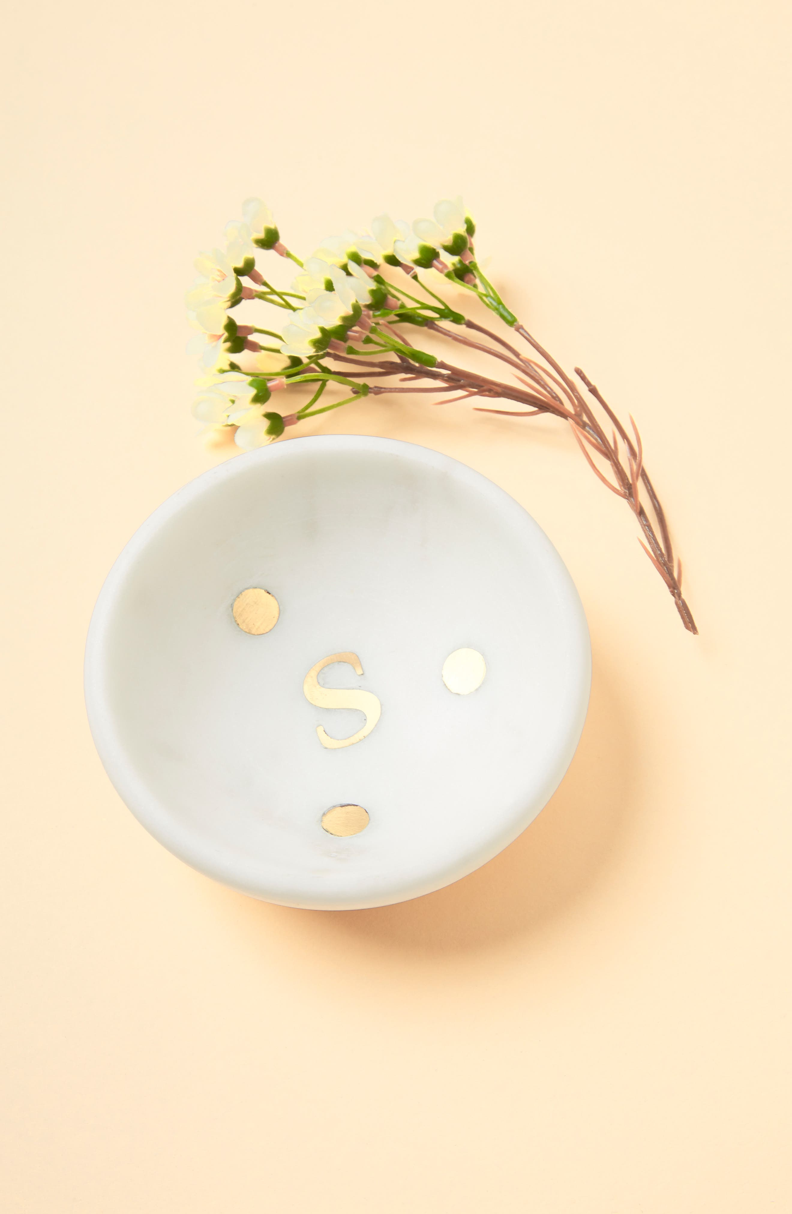 Marble Monogram Trinket Dish,                         Main,                         color, Marble - S